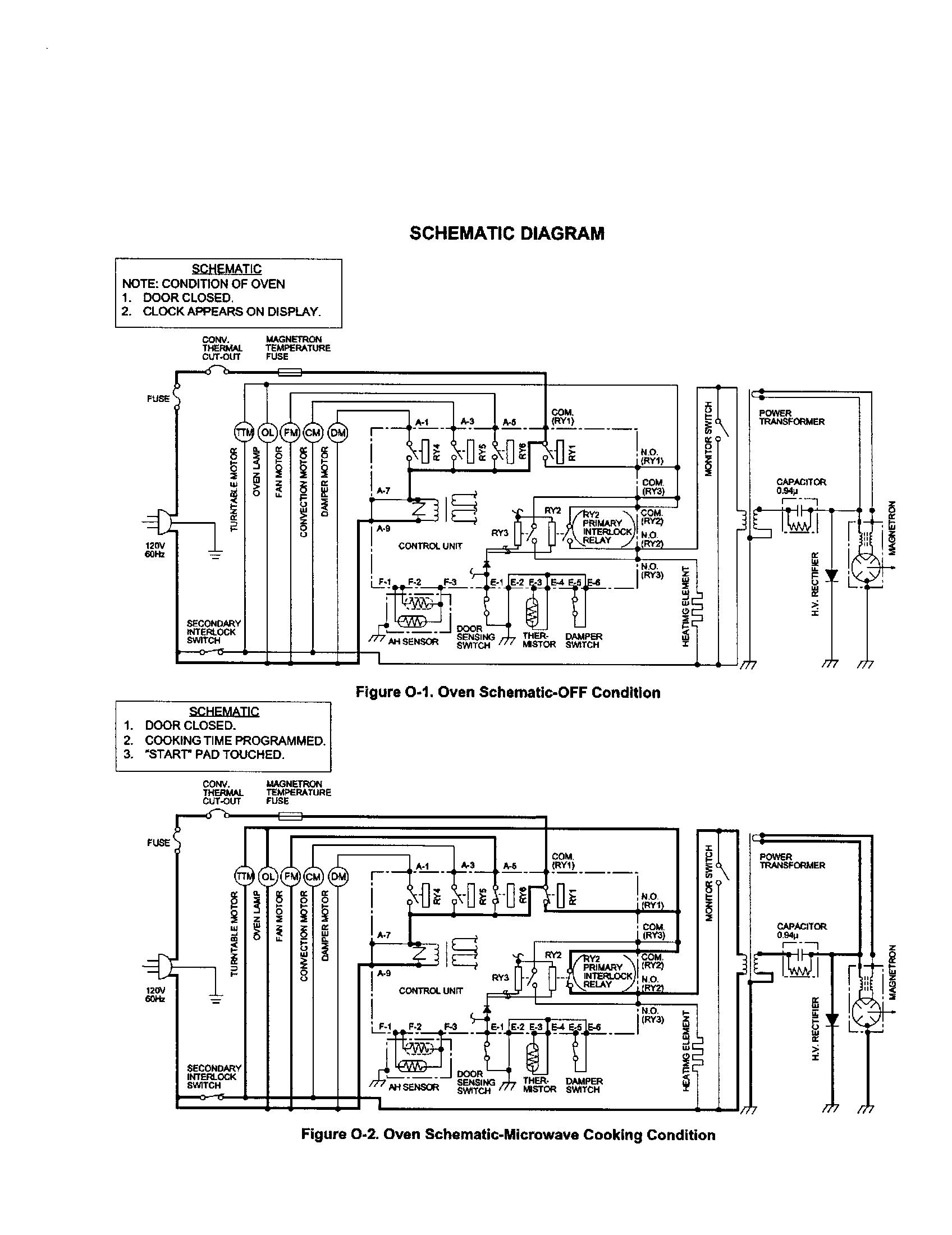 Sharp model R-930CS countertop microwave genuine parts