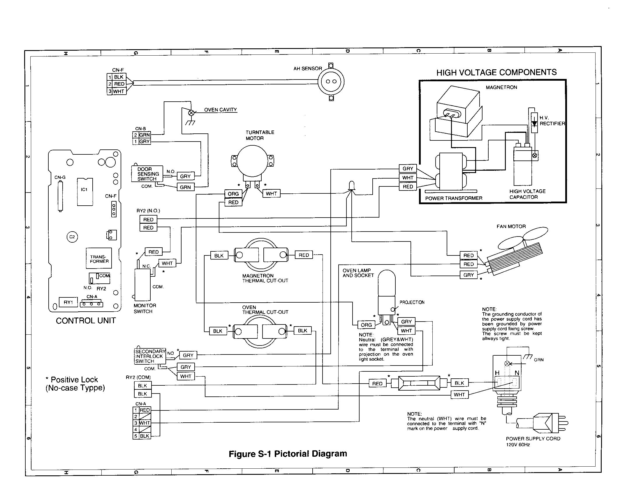 Sharp model R-3H85 countertop microwave genuine parts