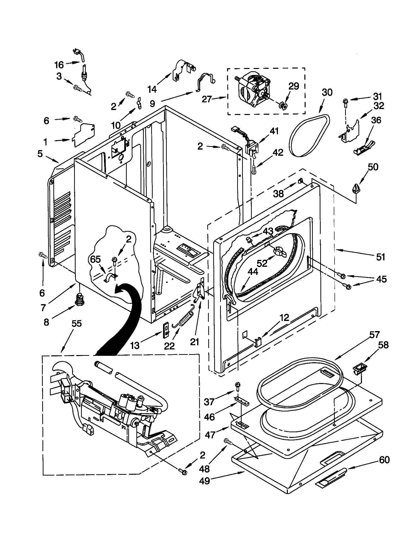Kenmore model 11072722100 residential dryer genuine parts