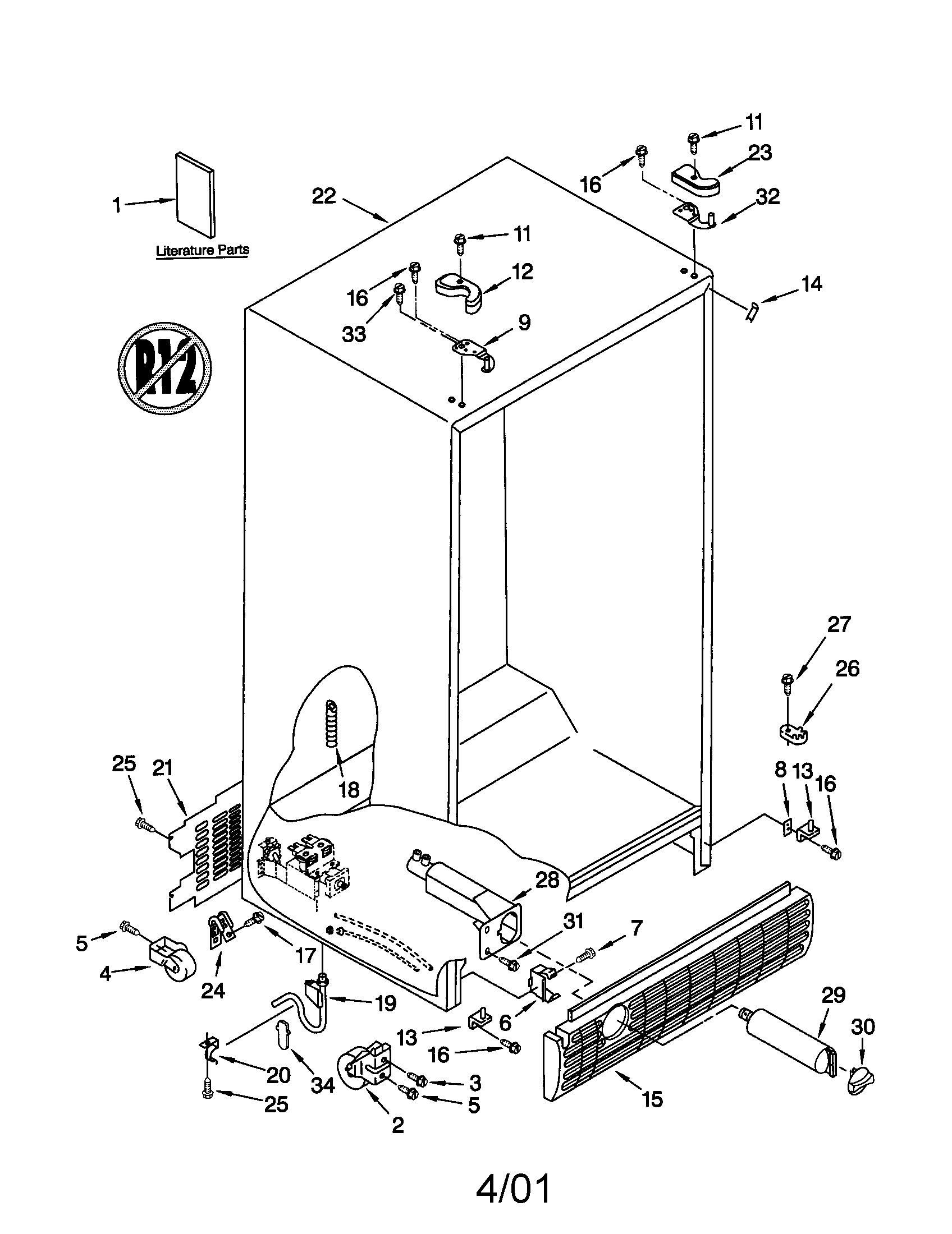 Kenmore model 10652559100 side-by-side refrigerator