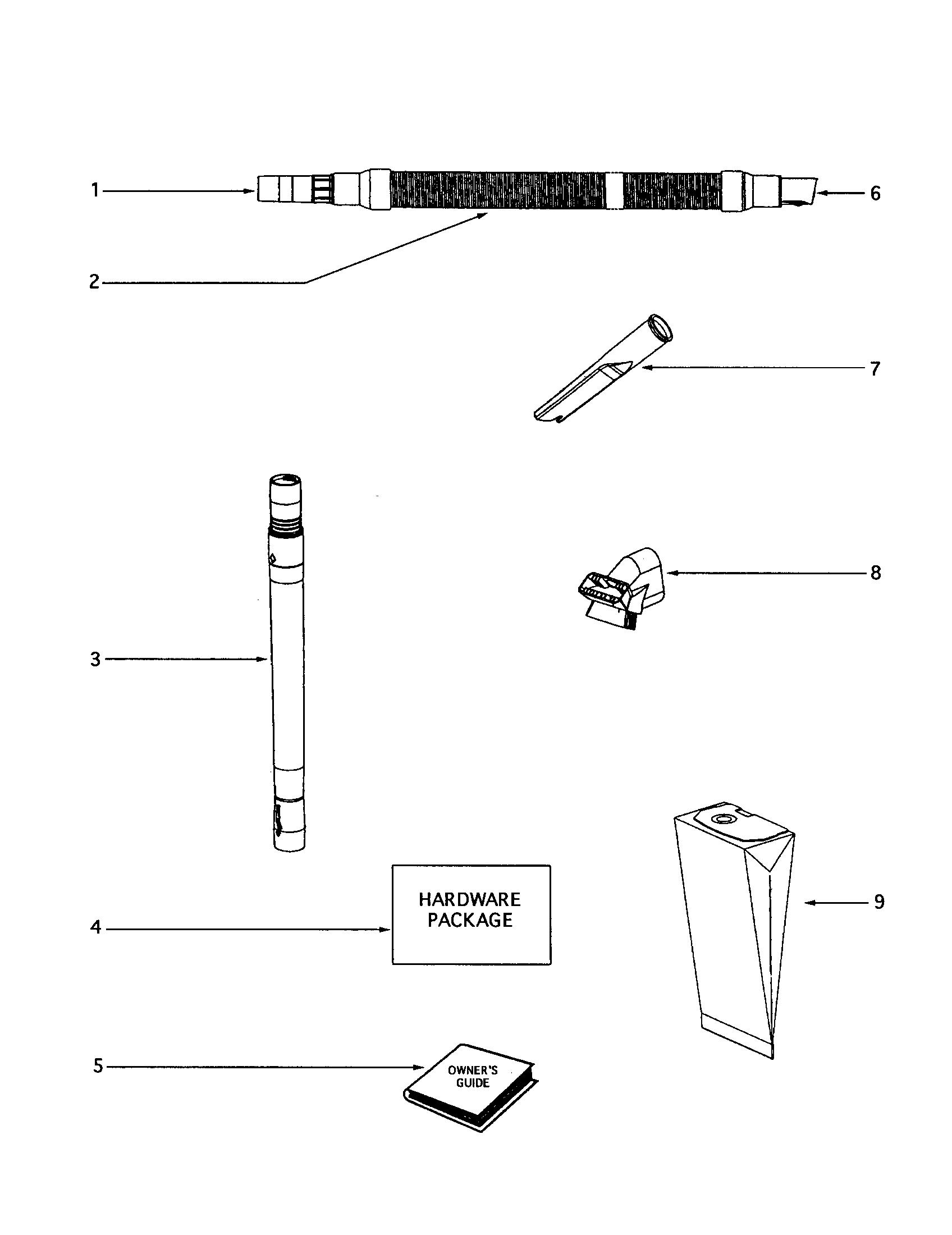 Eureka model 4337BTH vacuum, upright genuine parts