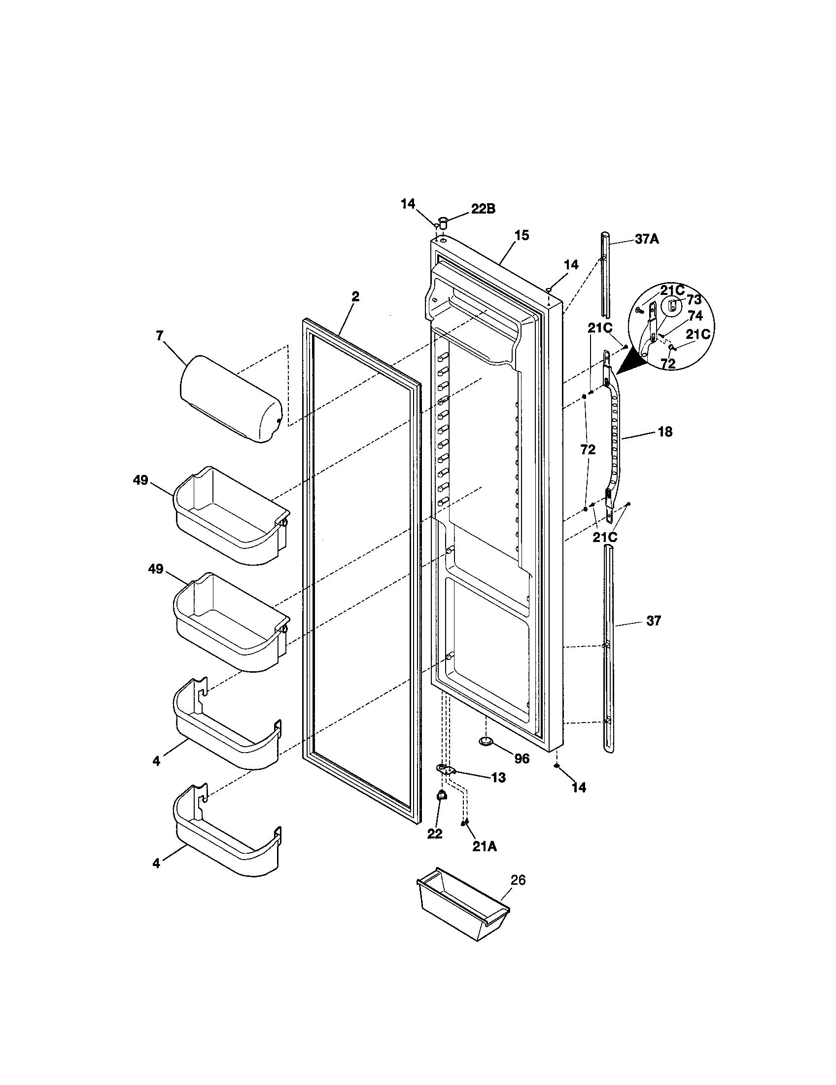 Kenmore model 25351692100 side-by-side refrigerator