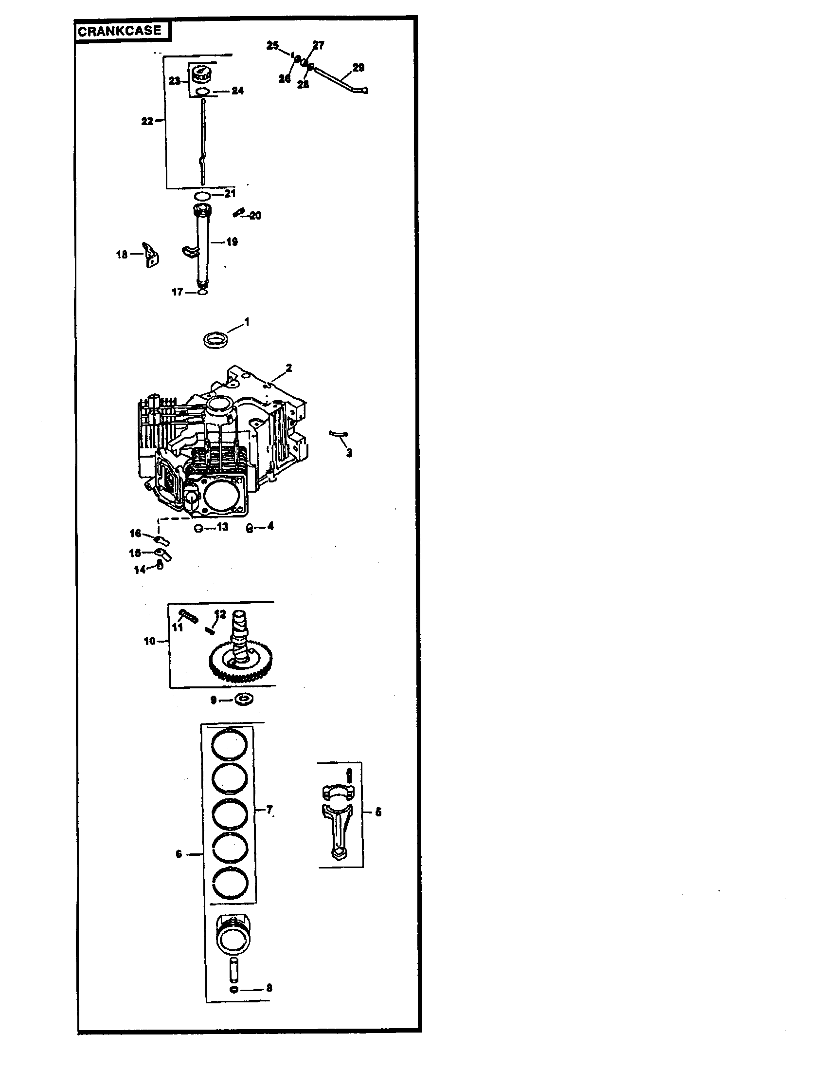 Kohler model CV22S-75534 engine genuine parts
