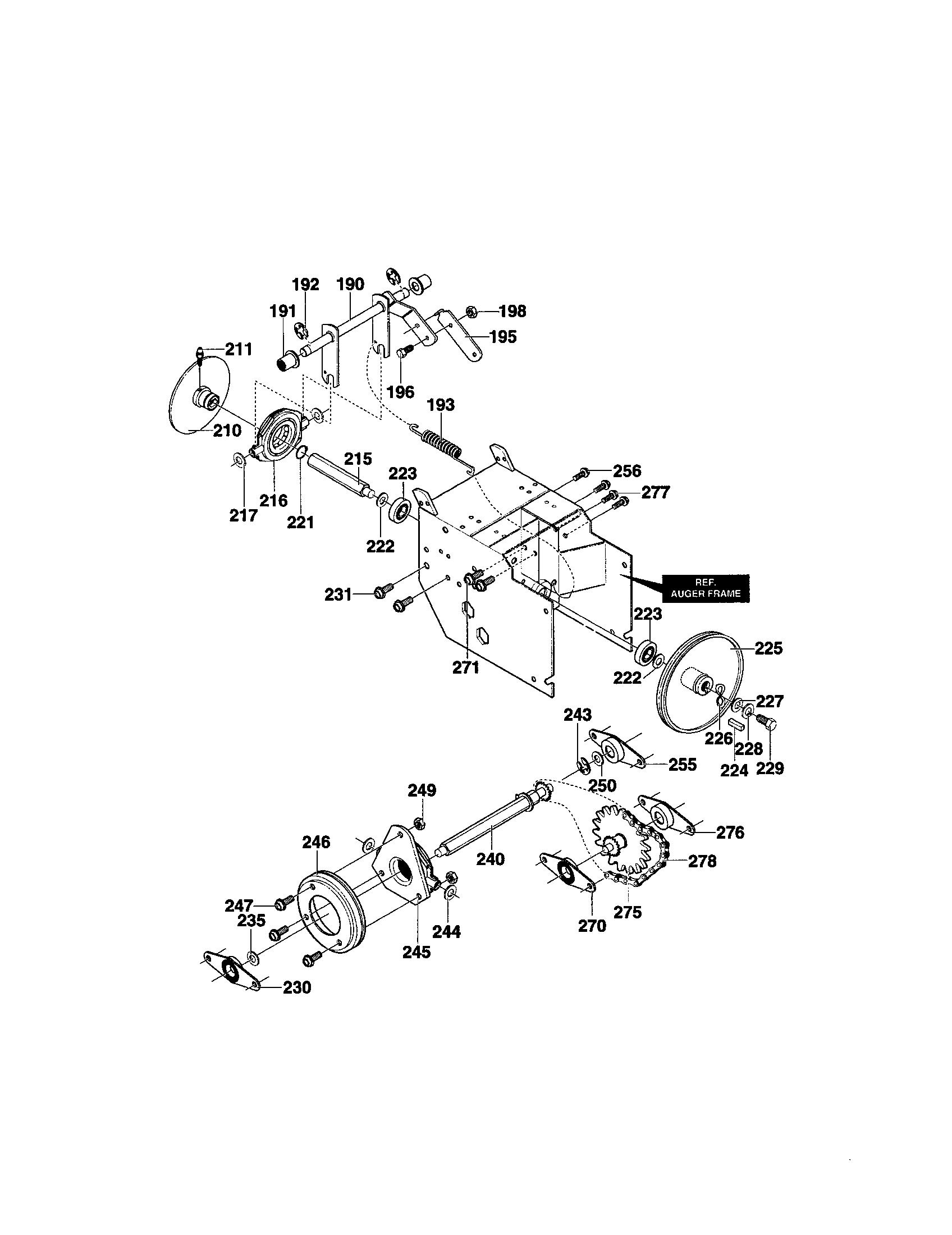 Craftsman 208cc Engine Parts Diagram. Craftsman. Tractor