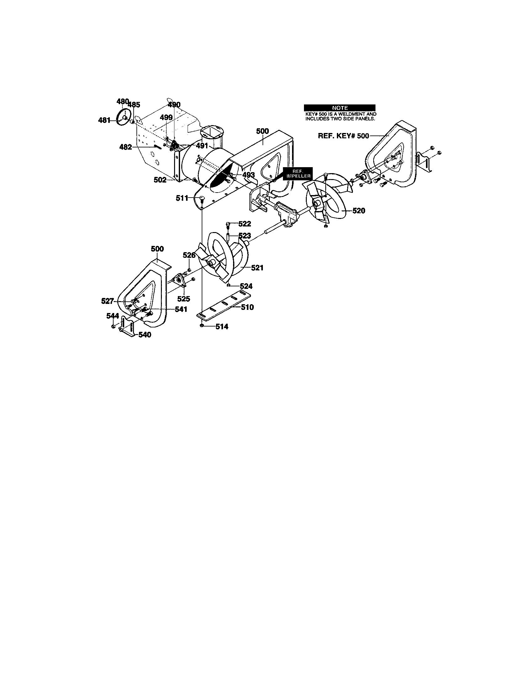Craftsman model C950-52009-0 snowthrower, gas genuine parts