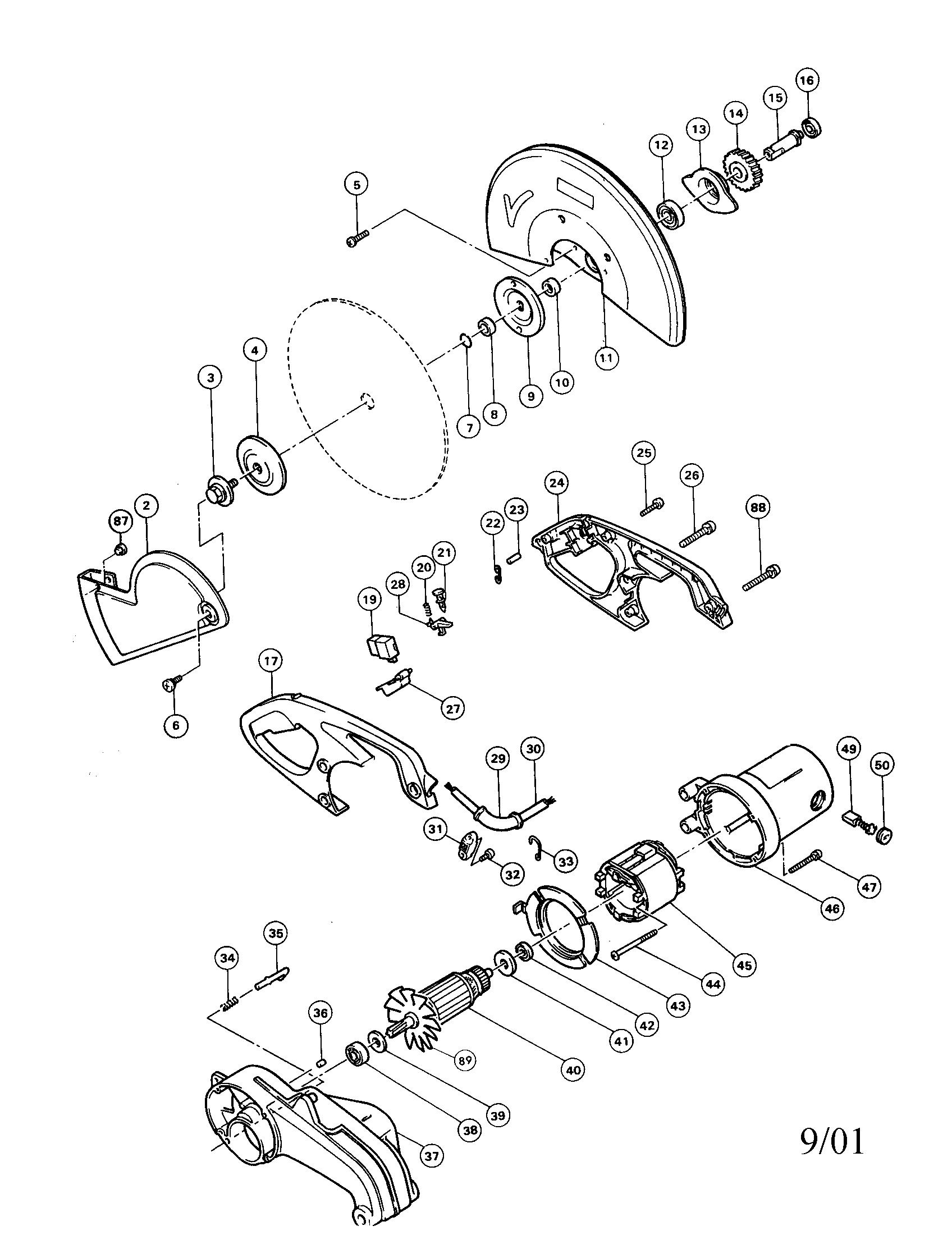 Makita model 2414B circular saw genuine parts