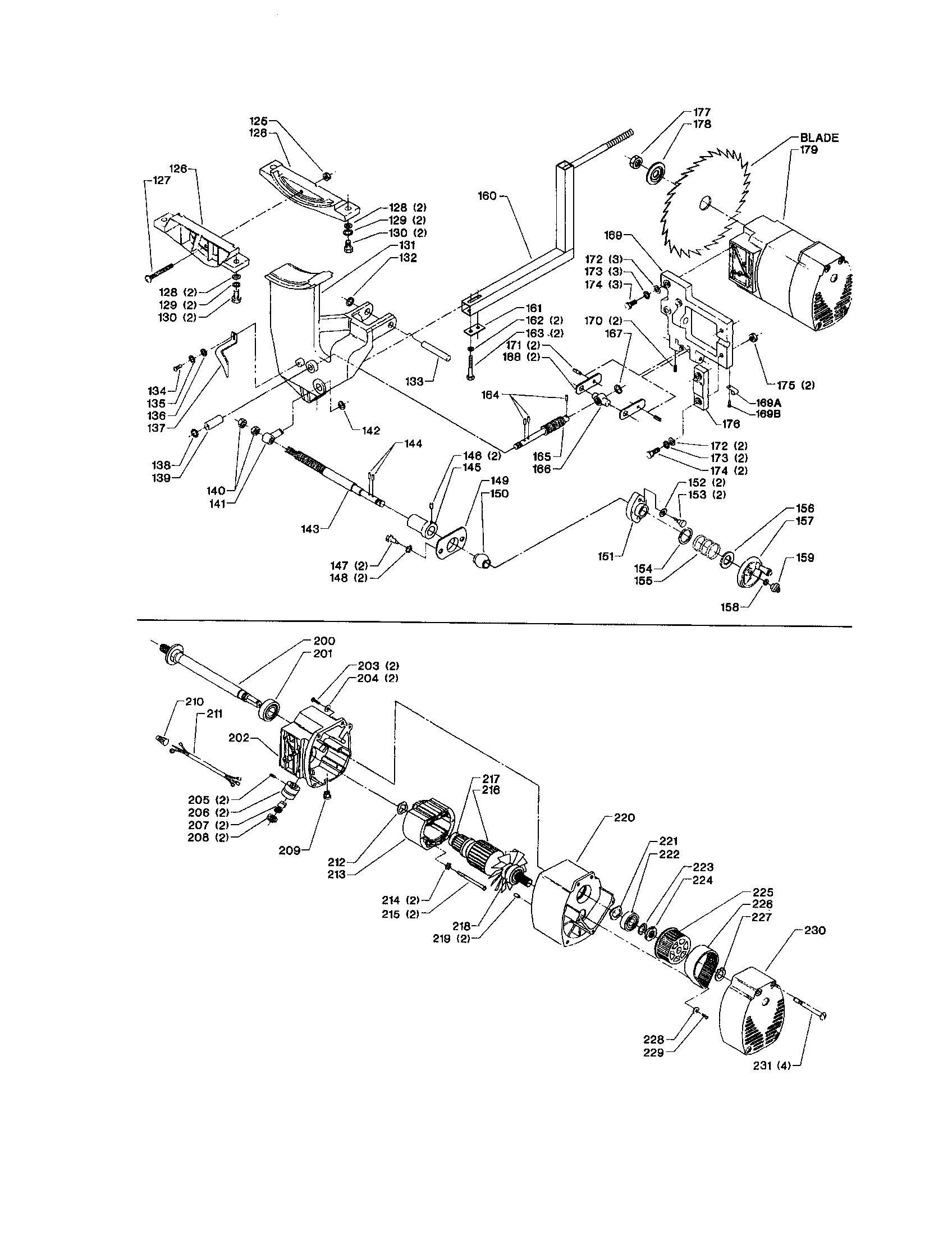 Delta model 36-600 table saw genuine parts