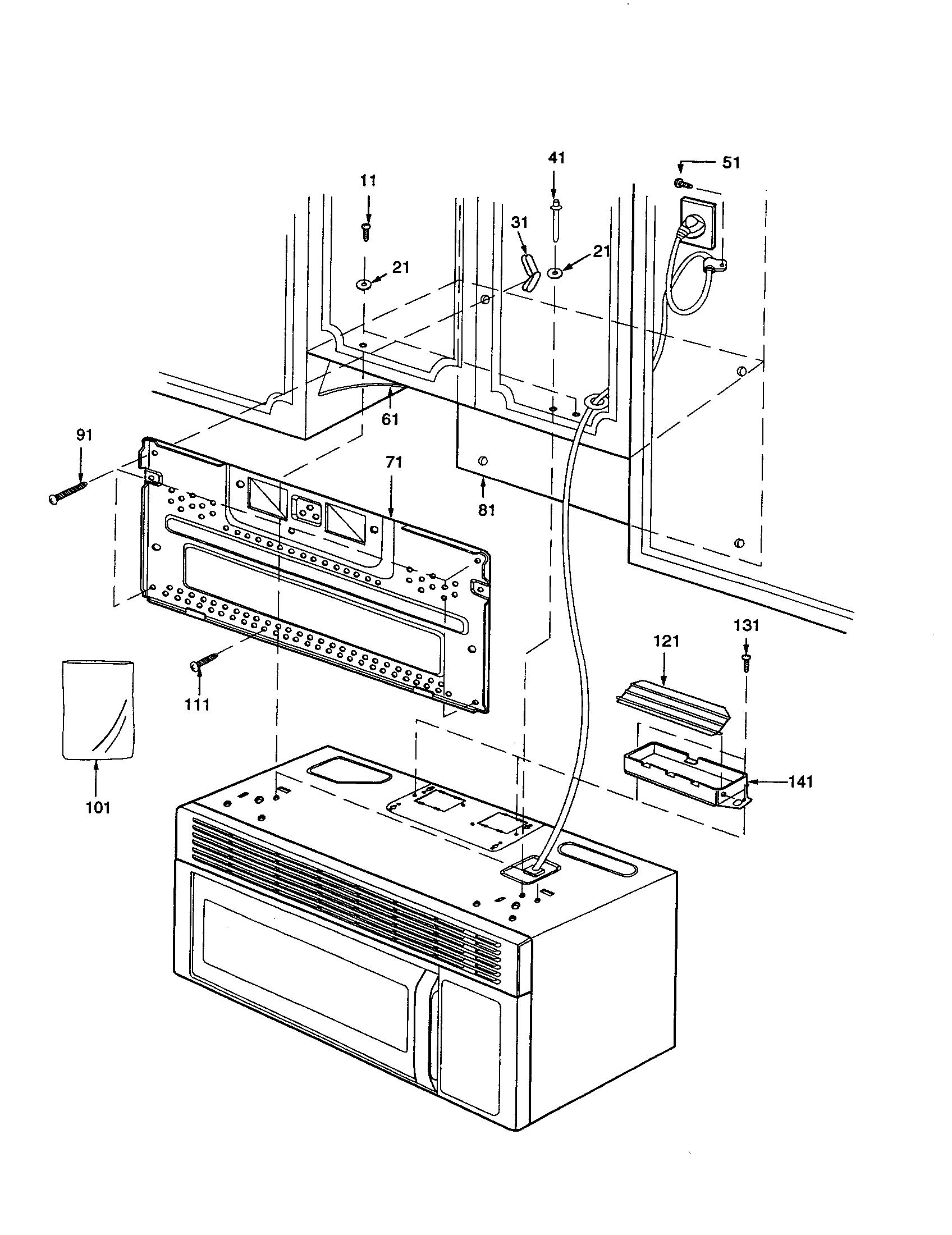 Amana model MVH250C-P1323212M microwave/hood combo genuine