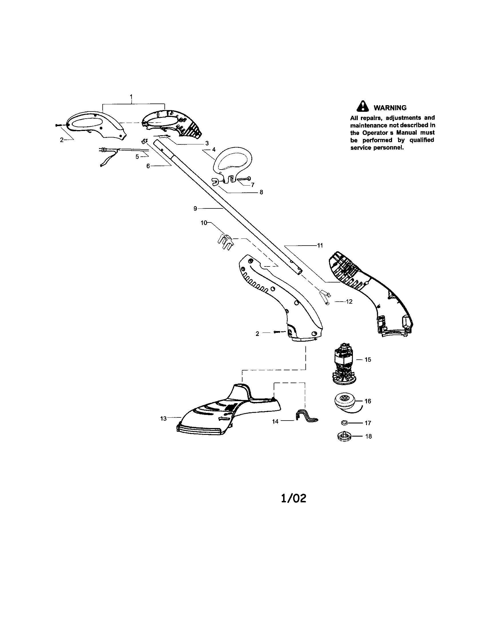 Craftsman model 358745250 line trimmers/weedwackers