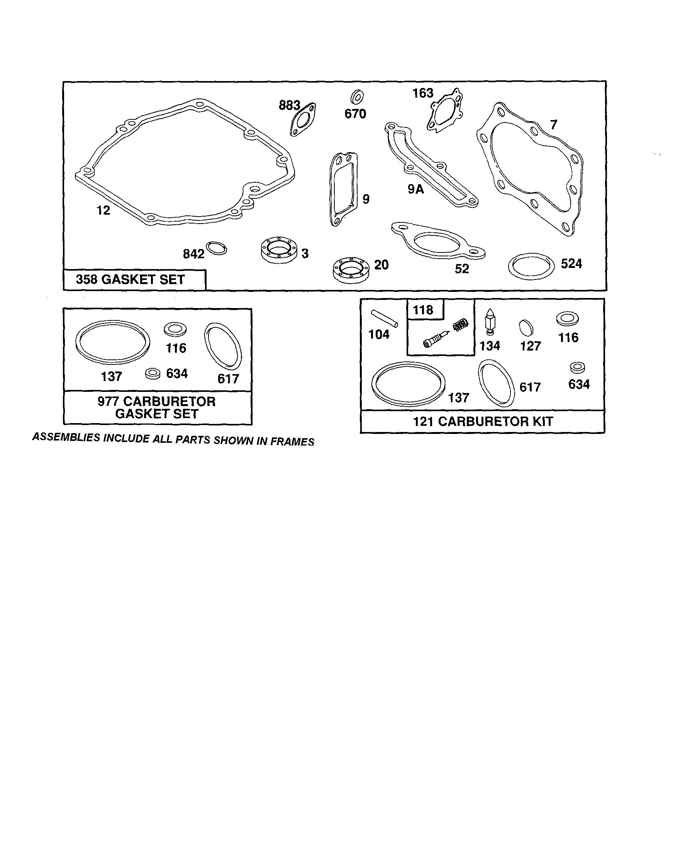 Briggs-Stratton model 12F800 TO 12F899 (0850-0859,0887