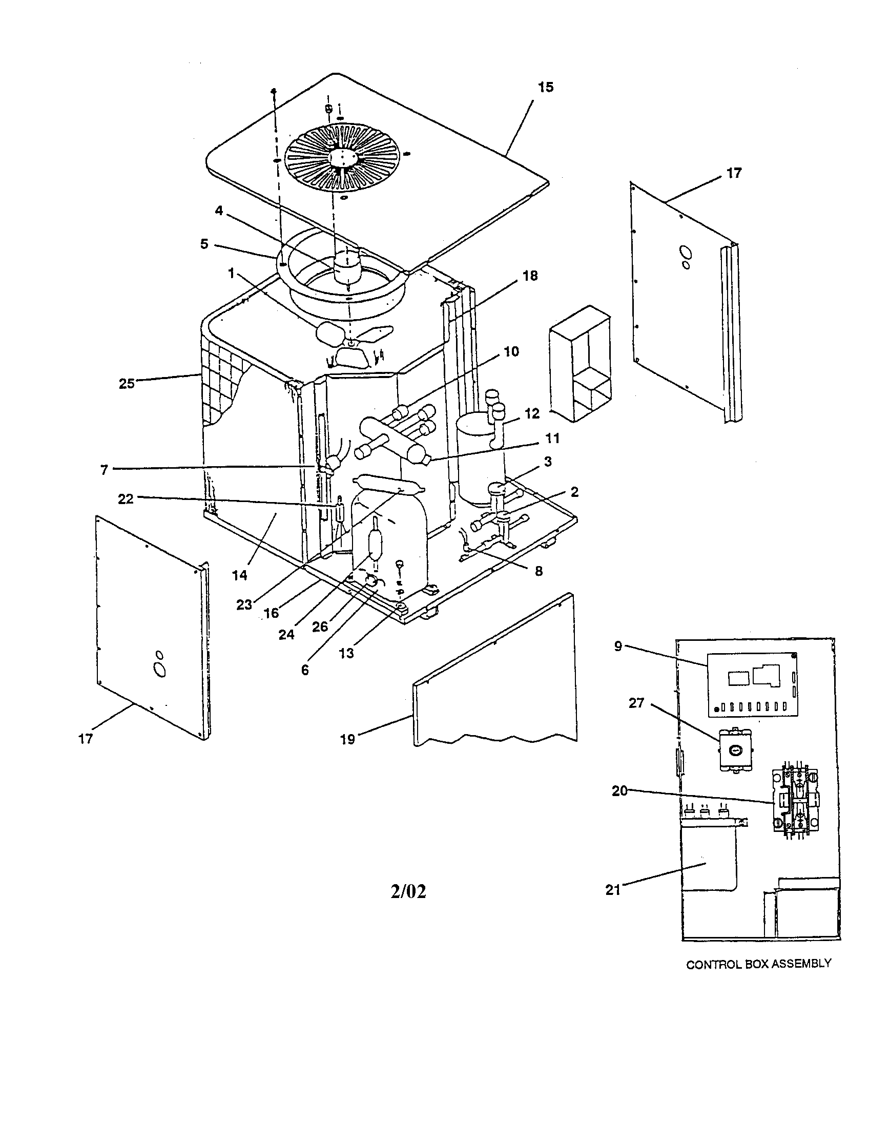Goodman model CPE48-1FB air-conditioner/heat pump(outside