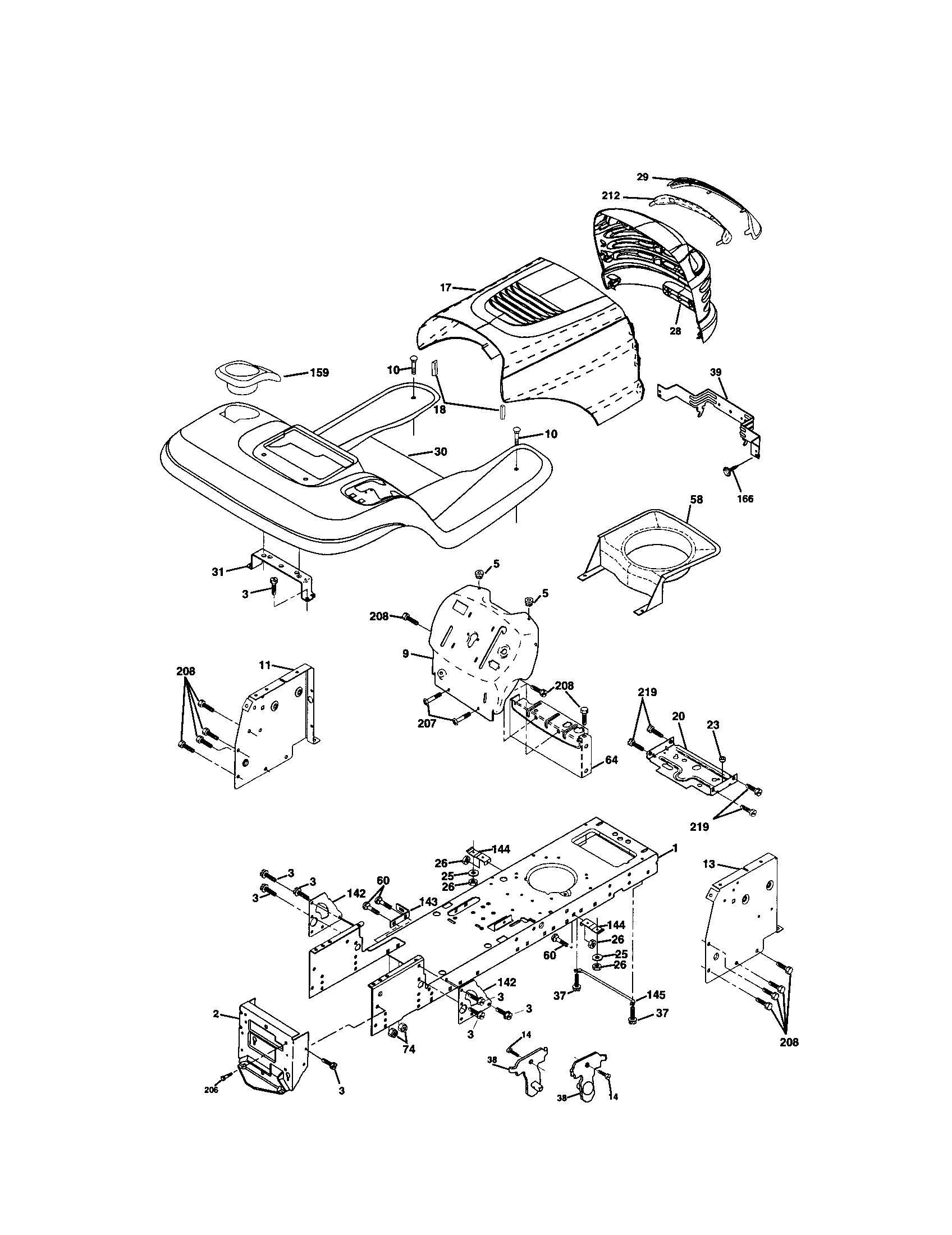 Craftsman model 917271920 lawn, tractor genuine parts