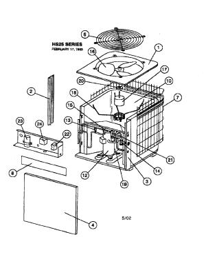 LENNOX CONDENSING UNIT Parts | Model hs25410series | Sears