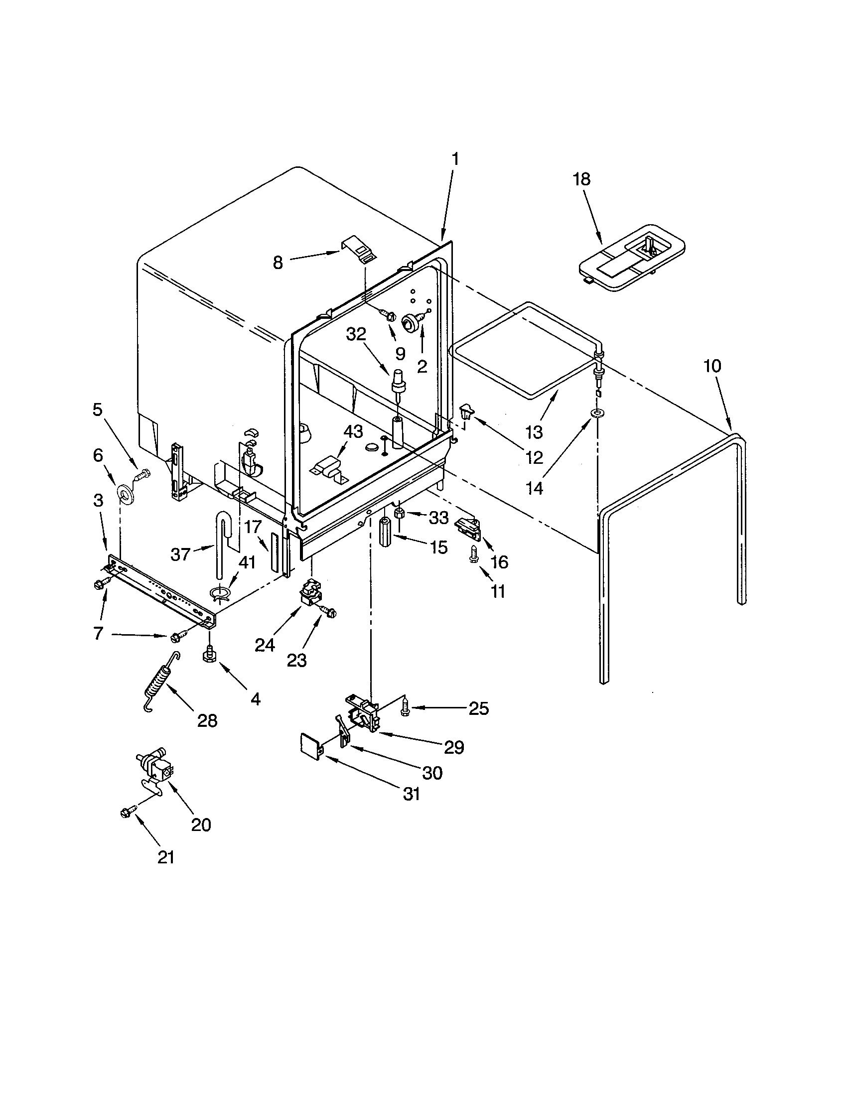 Kenmore model 66517439001 dishwasher genuine parts