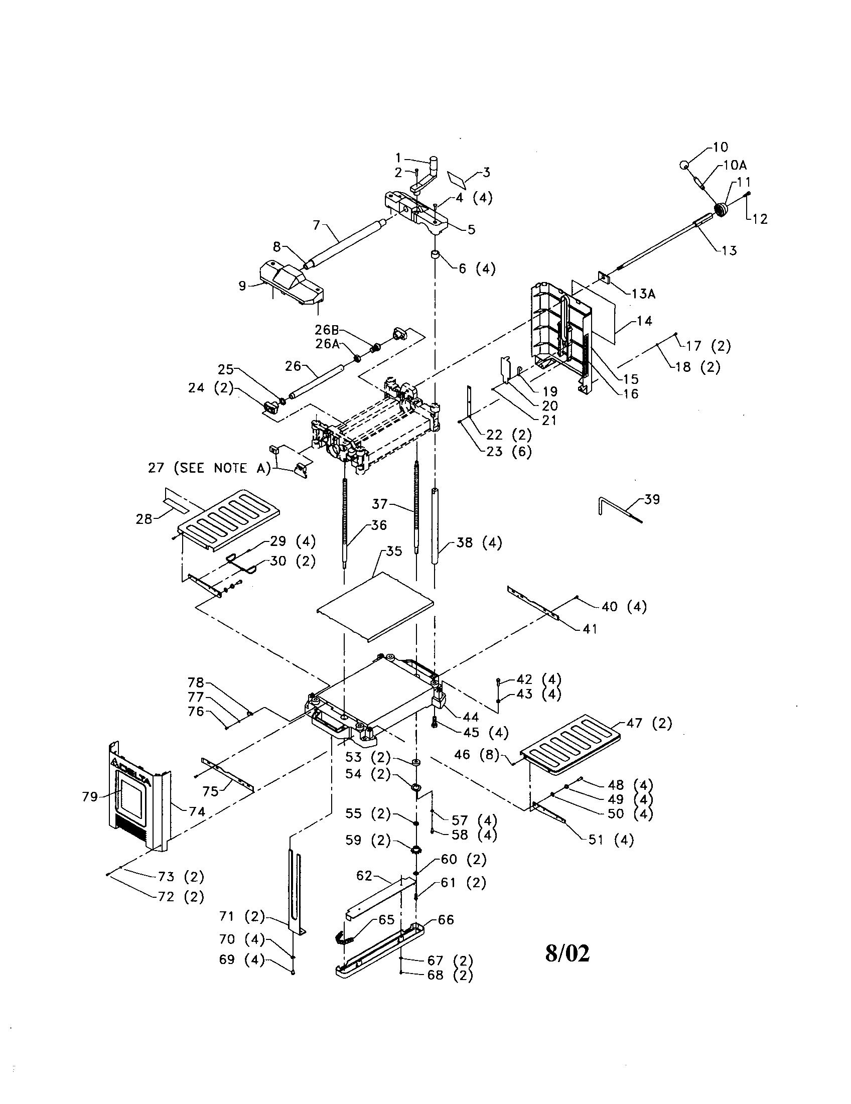 Delta model 22-560 planer genuine parts