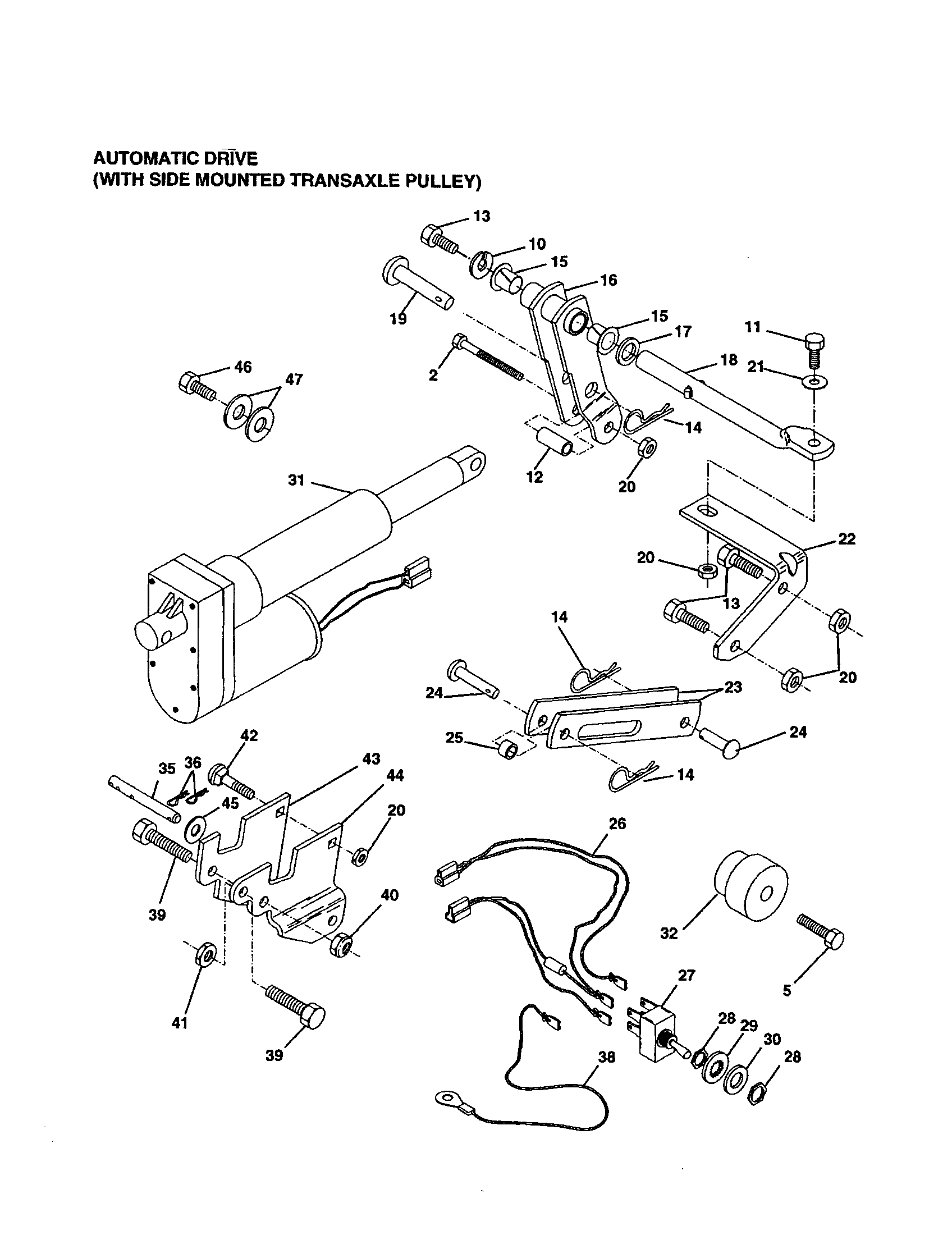 Craftsman model 917242450 tractor attachments genuine parts