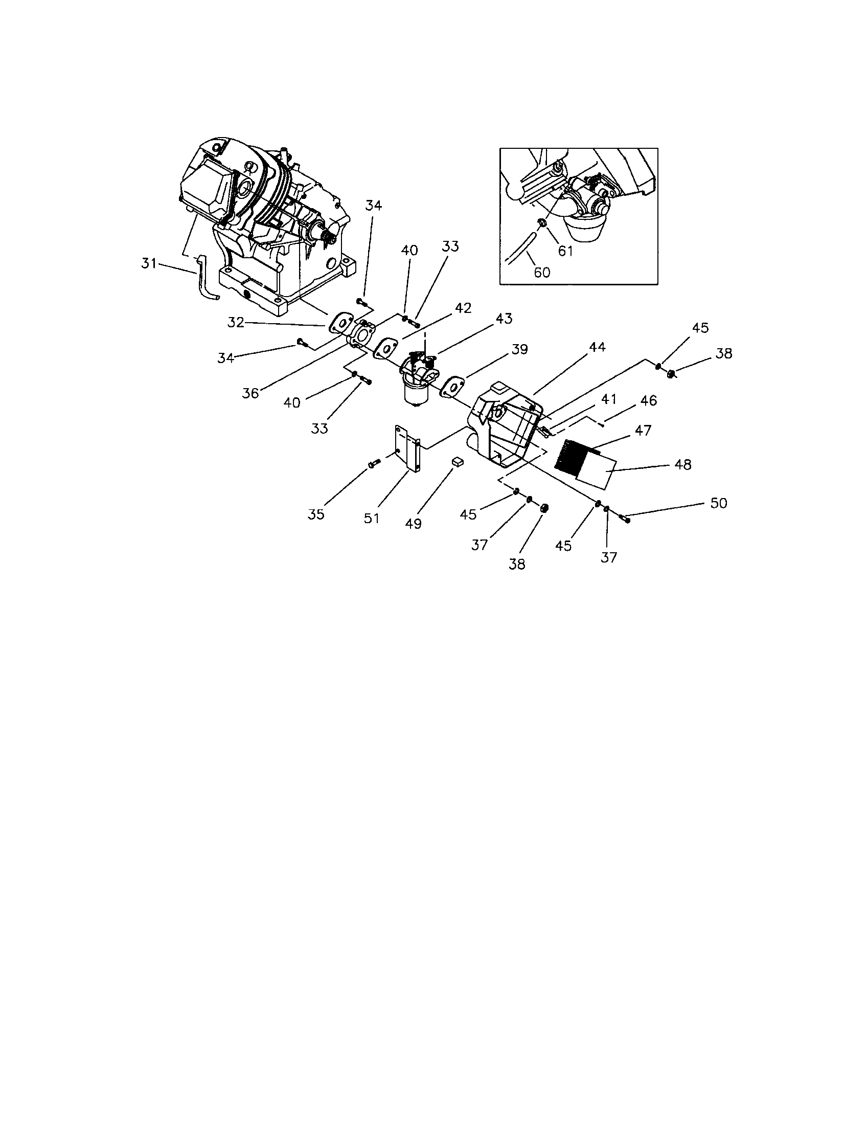 Generac model EHF00945 engine genuine parts