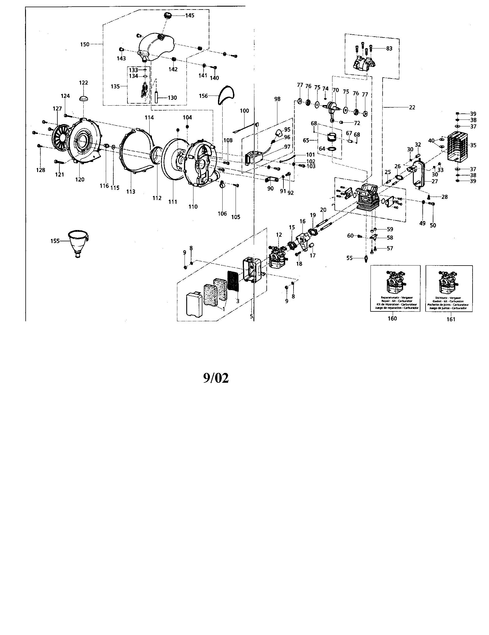 Craftsman model 360796800 blower, gas genuine parts