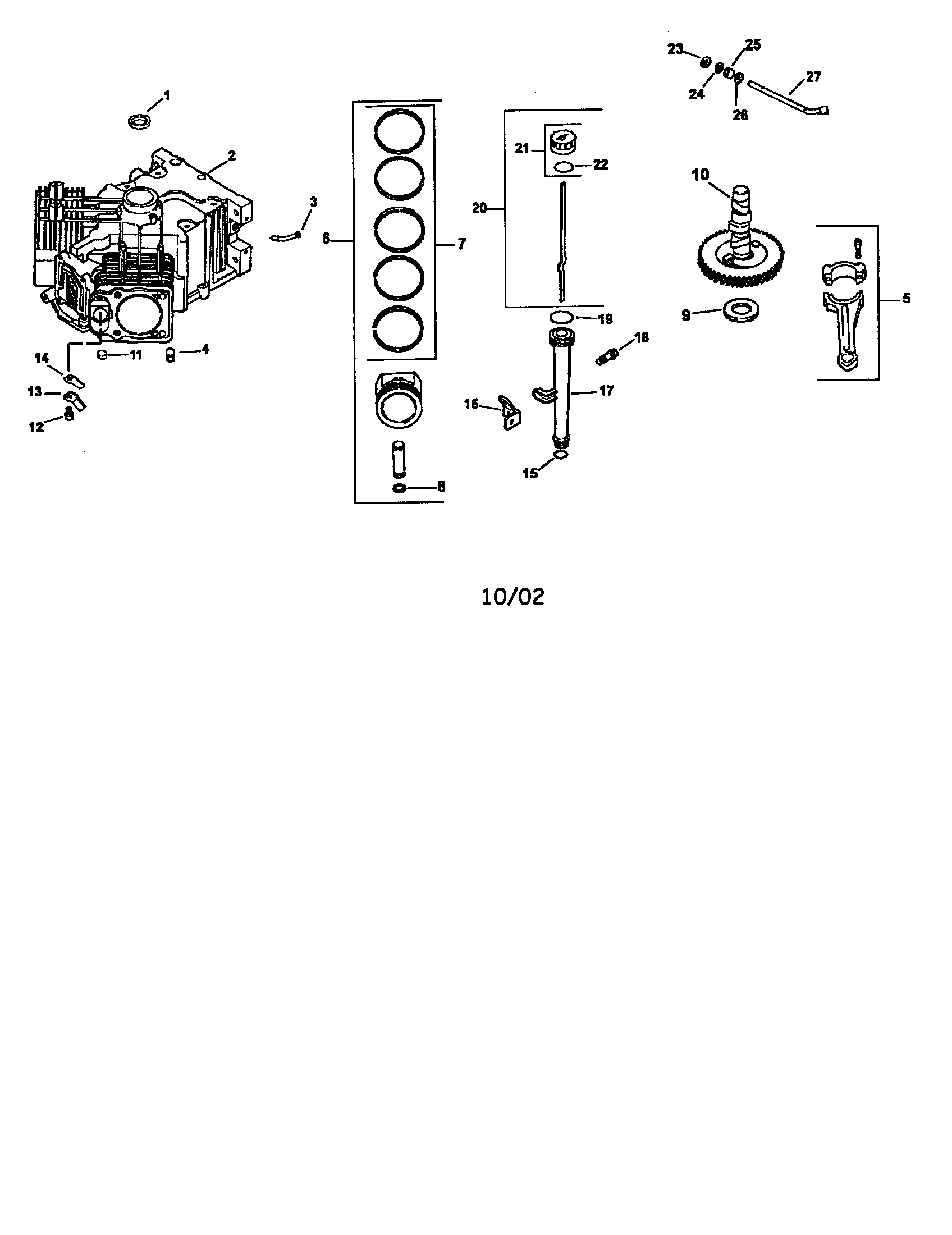 Kohler model CV624-65578 engine genuine parts