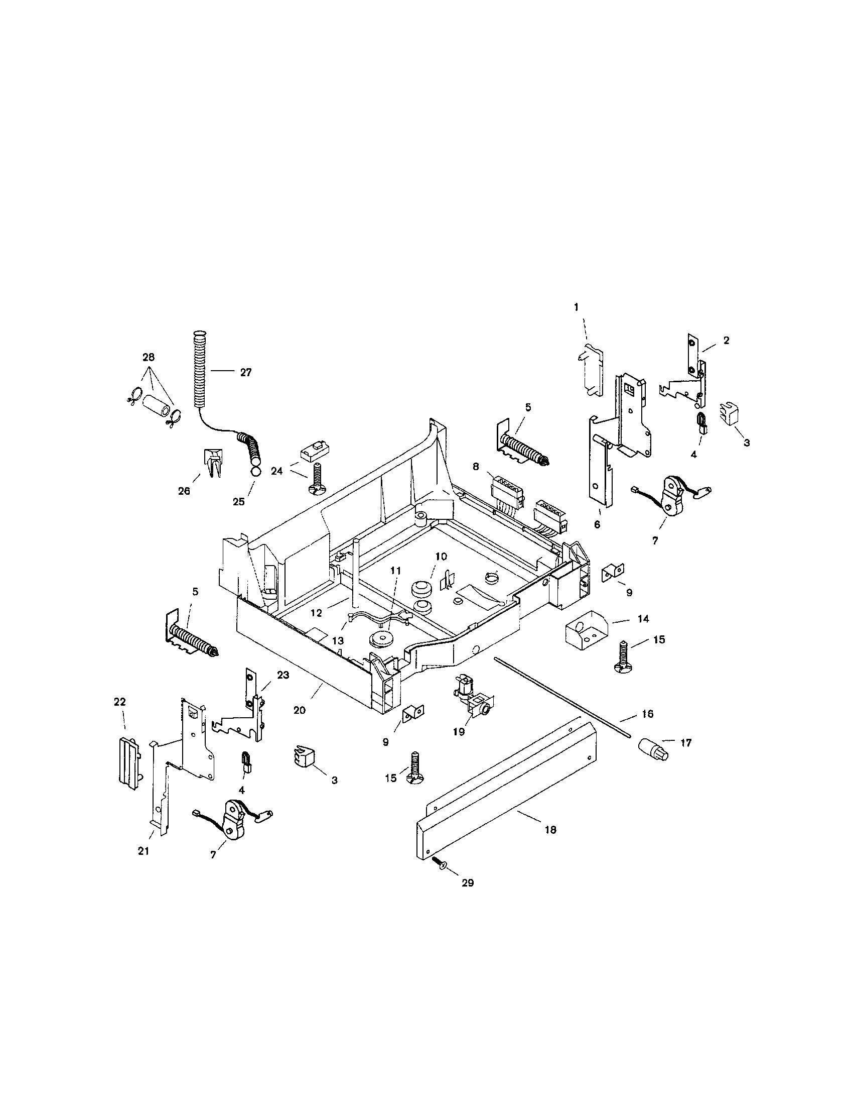 Bosch model SHU9915UC/11 dishwasher genuine parts