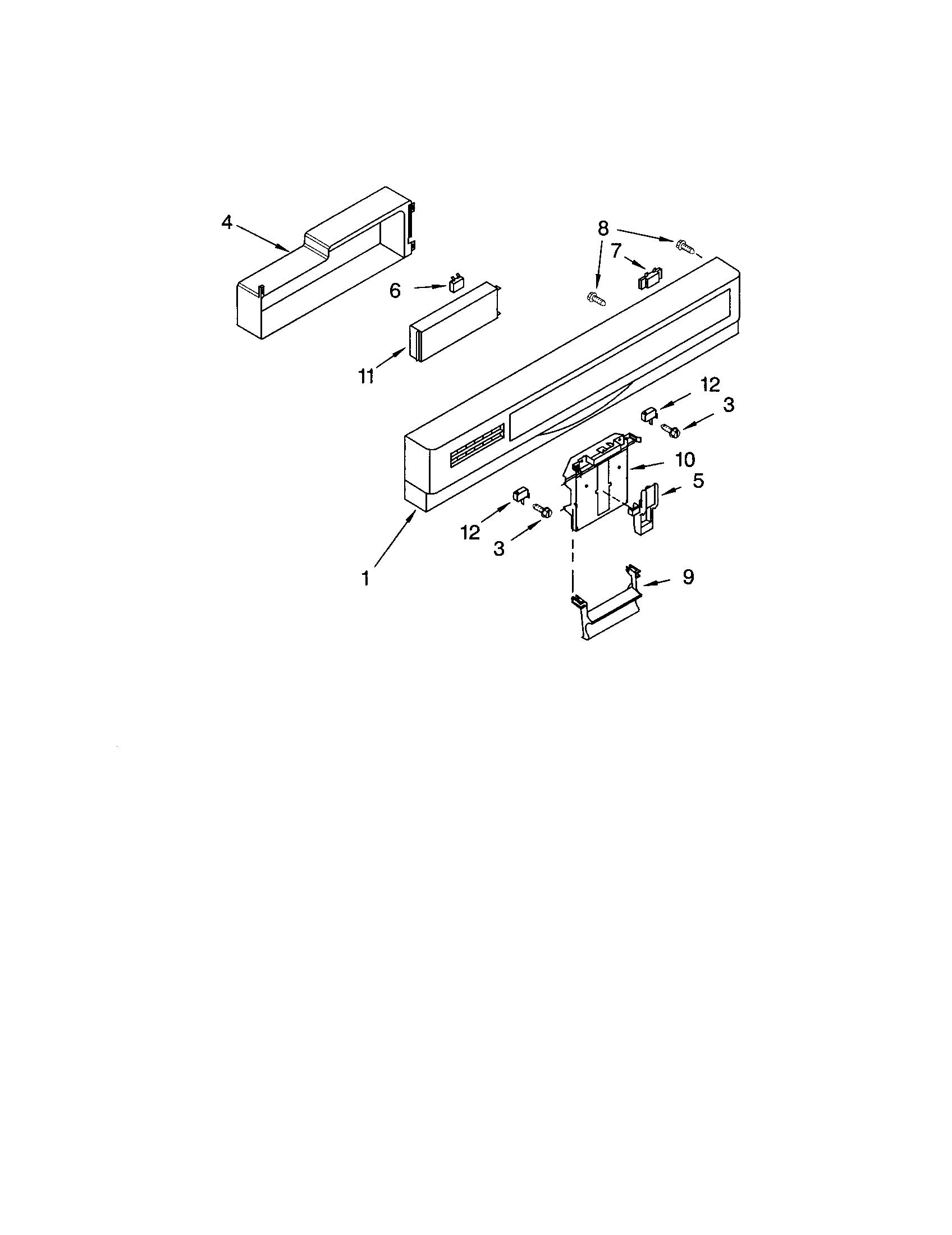 Kenmore model 66515882000 dishwasher genuine parts