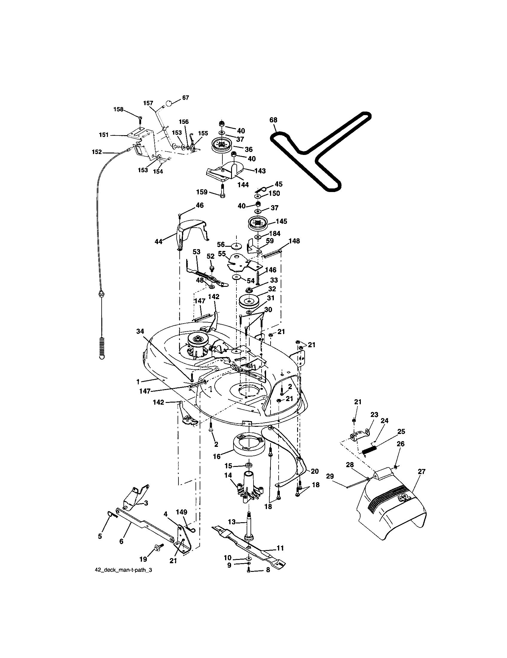 Craftsman model 917272351 lawn, tractor genuine parts