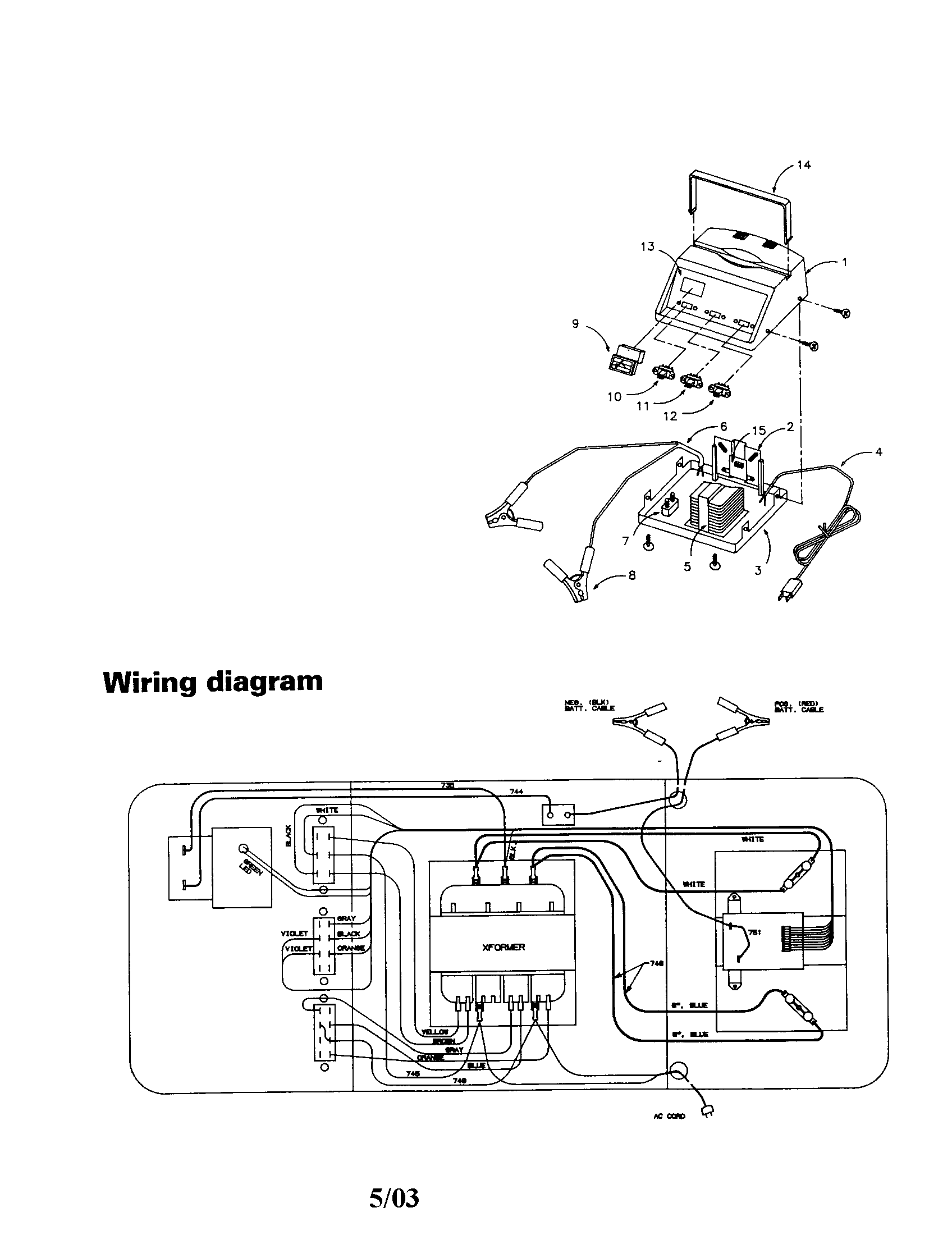 Sears Battery Charger Wiring Diagram. Diagram. Wiring