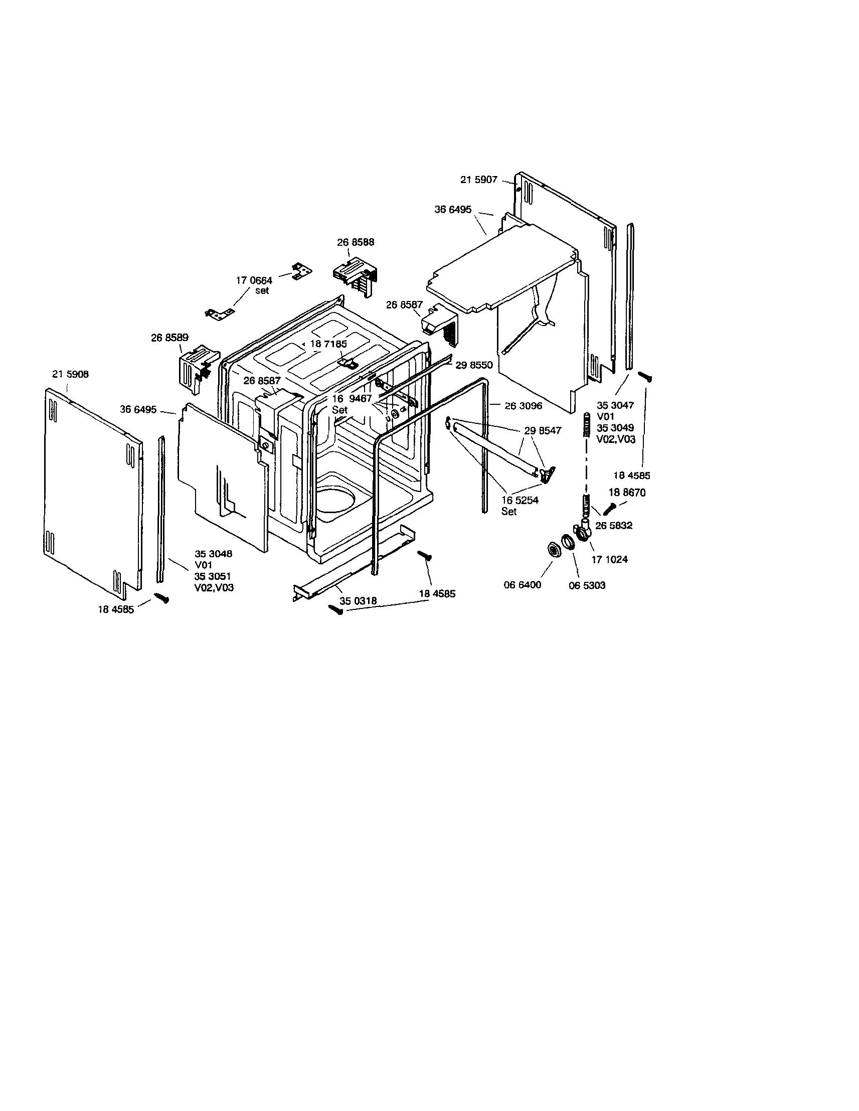 Bosch model SHY56A05UC/14 dishwasher genuine parts