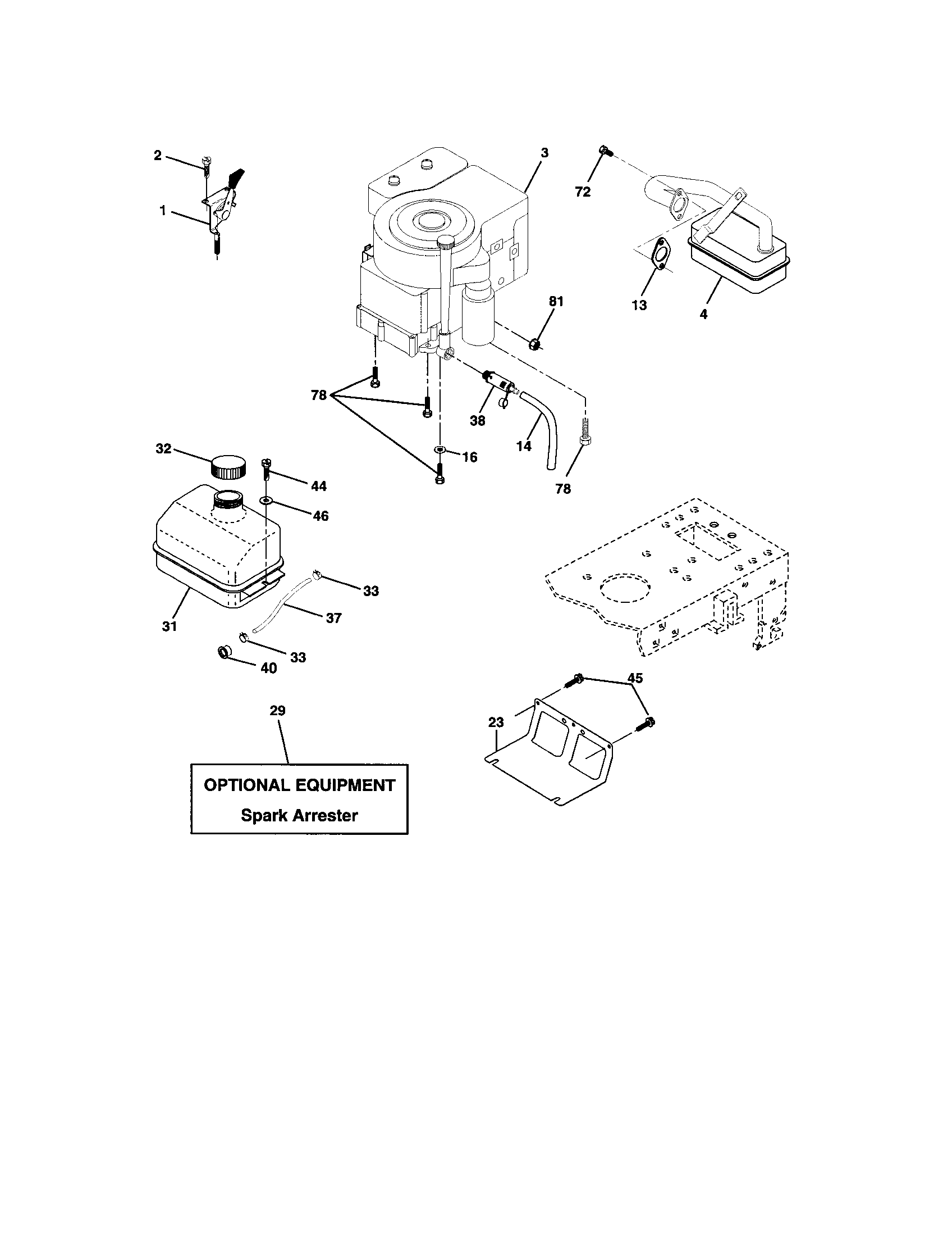 Craftsman model 917273760 lawn, tractor genuine parts