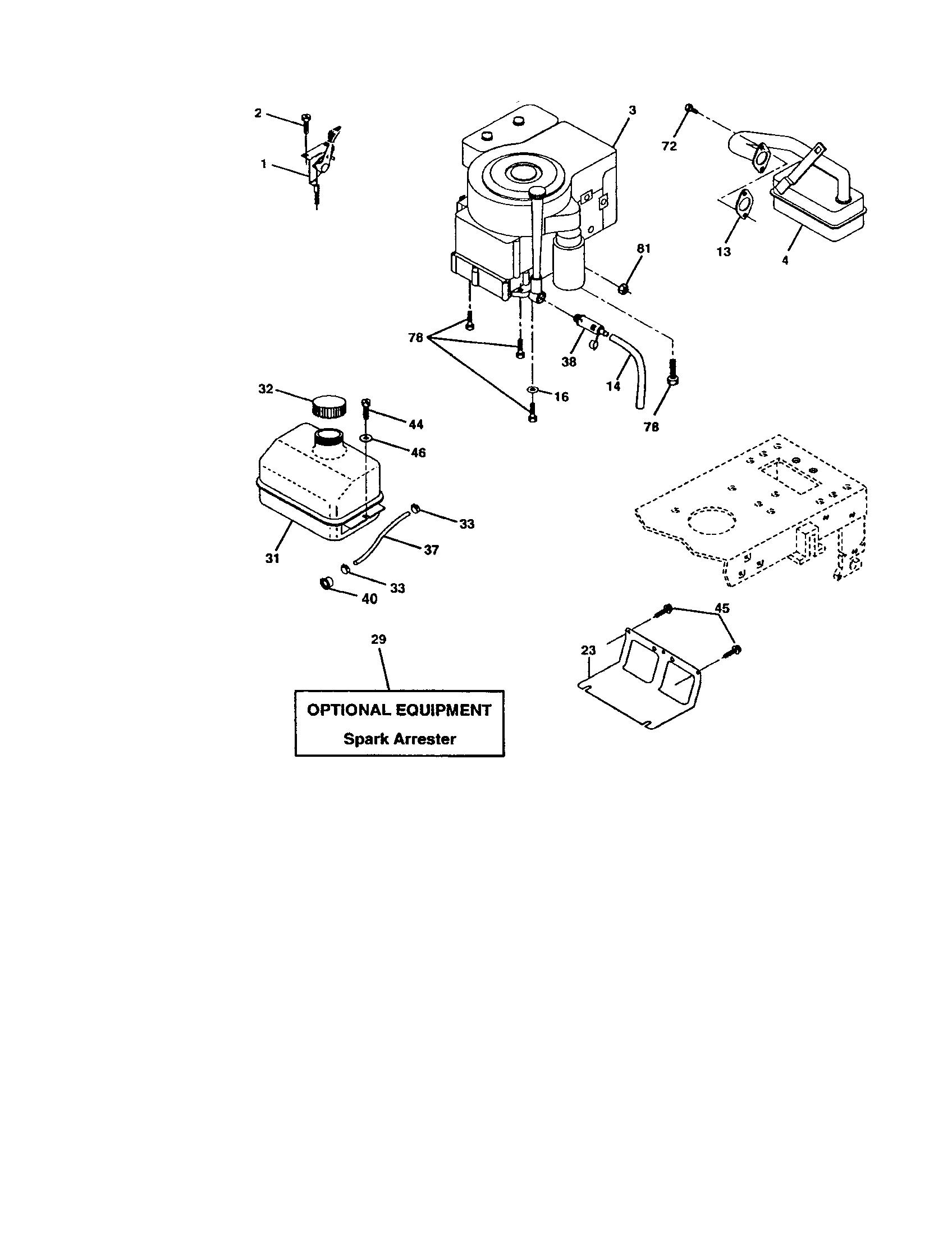 Craftsman model 917272673 lawn, tractor genuine parts