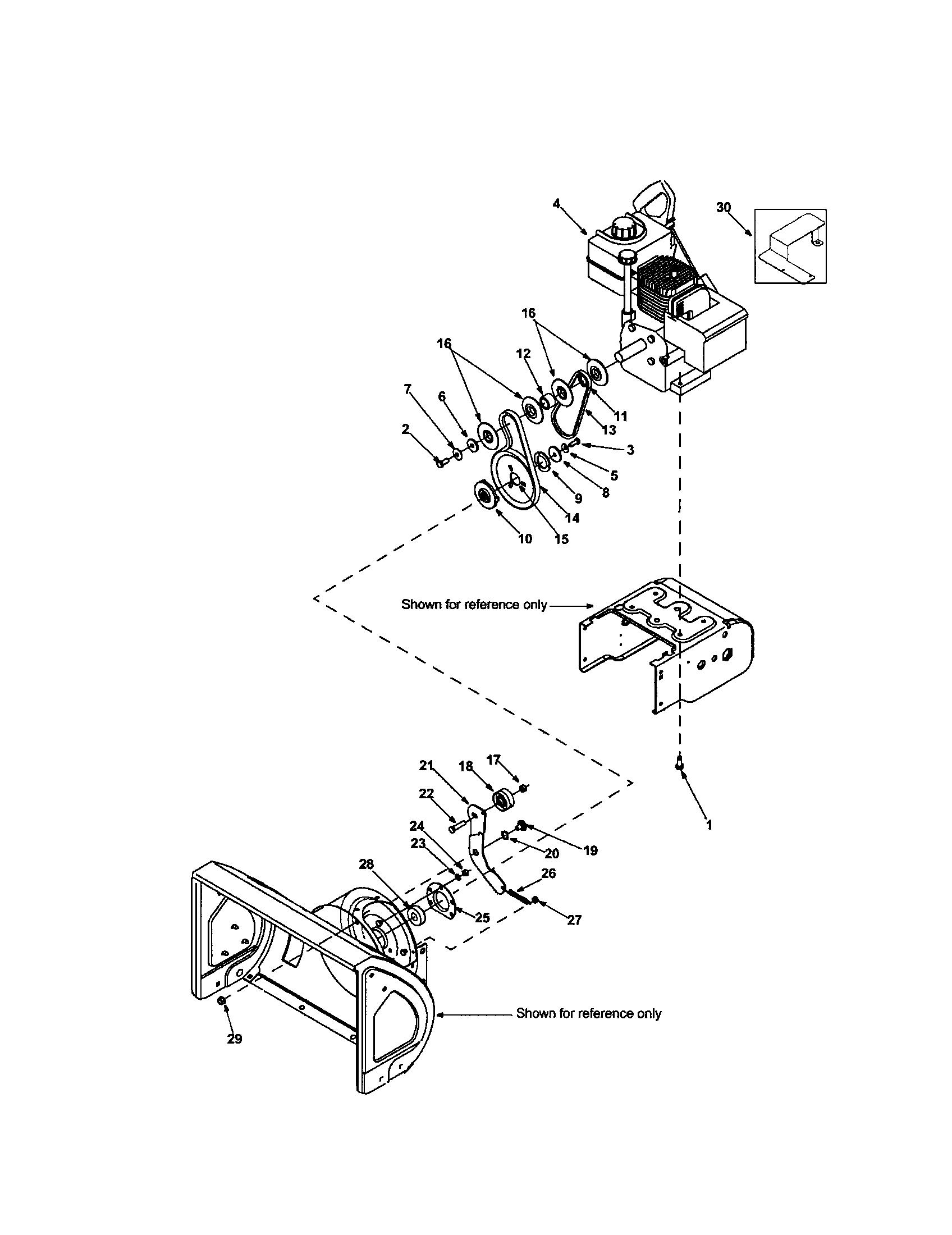 Craftsman model 247887000 snowthrower, gas genuine parts