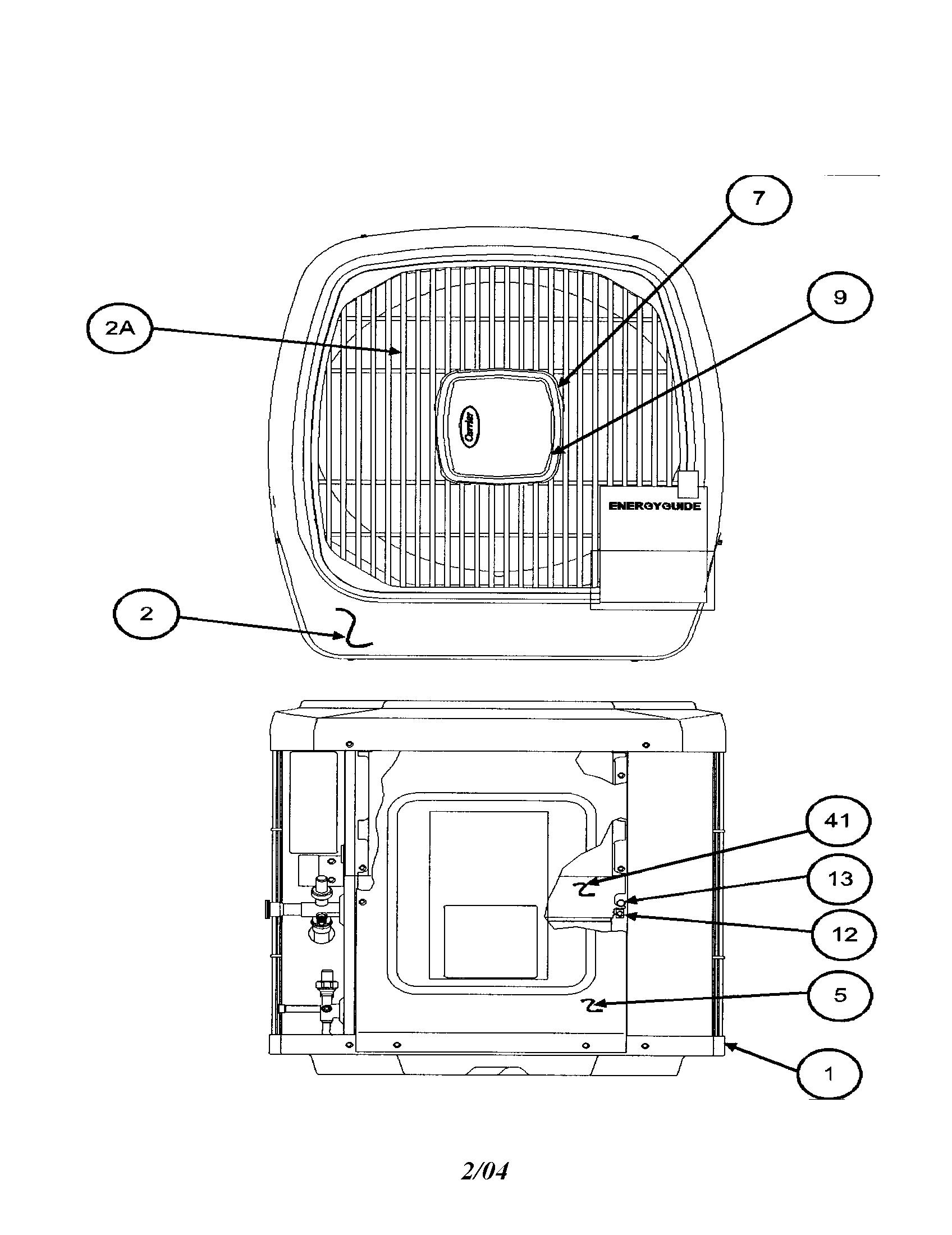 Carrier model 38TSA042 SERIES330 air-conditioner/heat pump