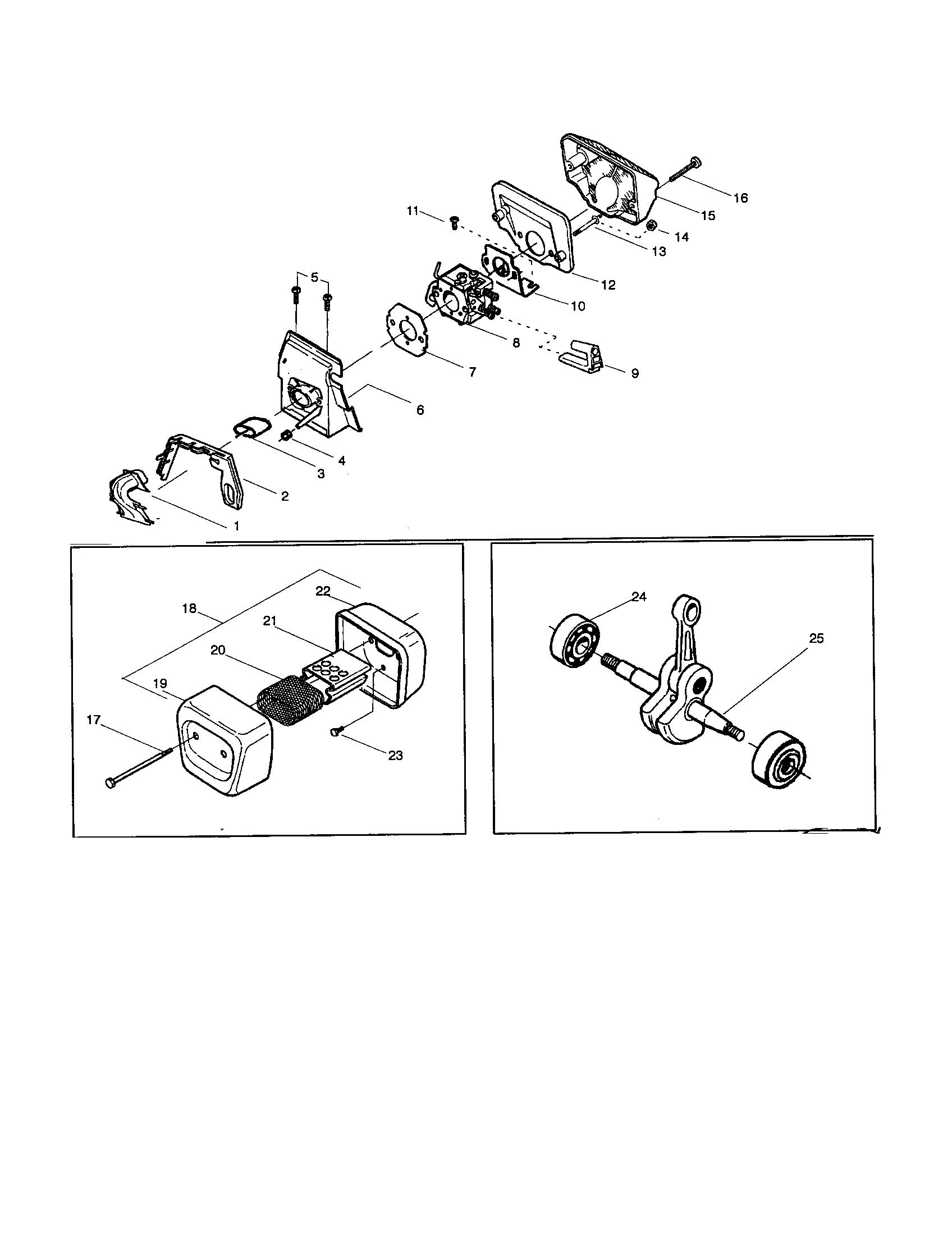 Husqvarna model 141 chainsaw, gas genuine parts