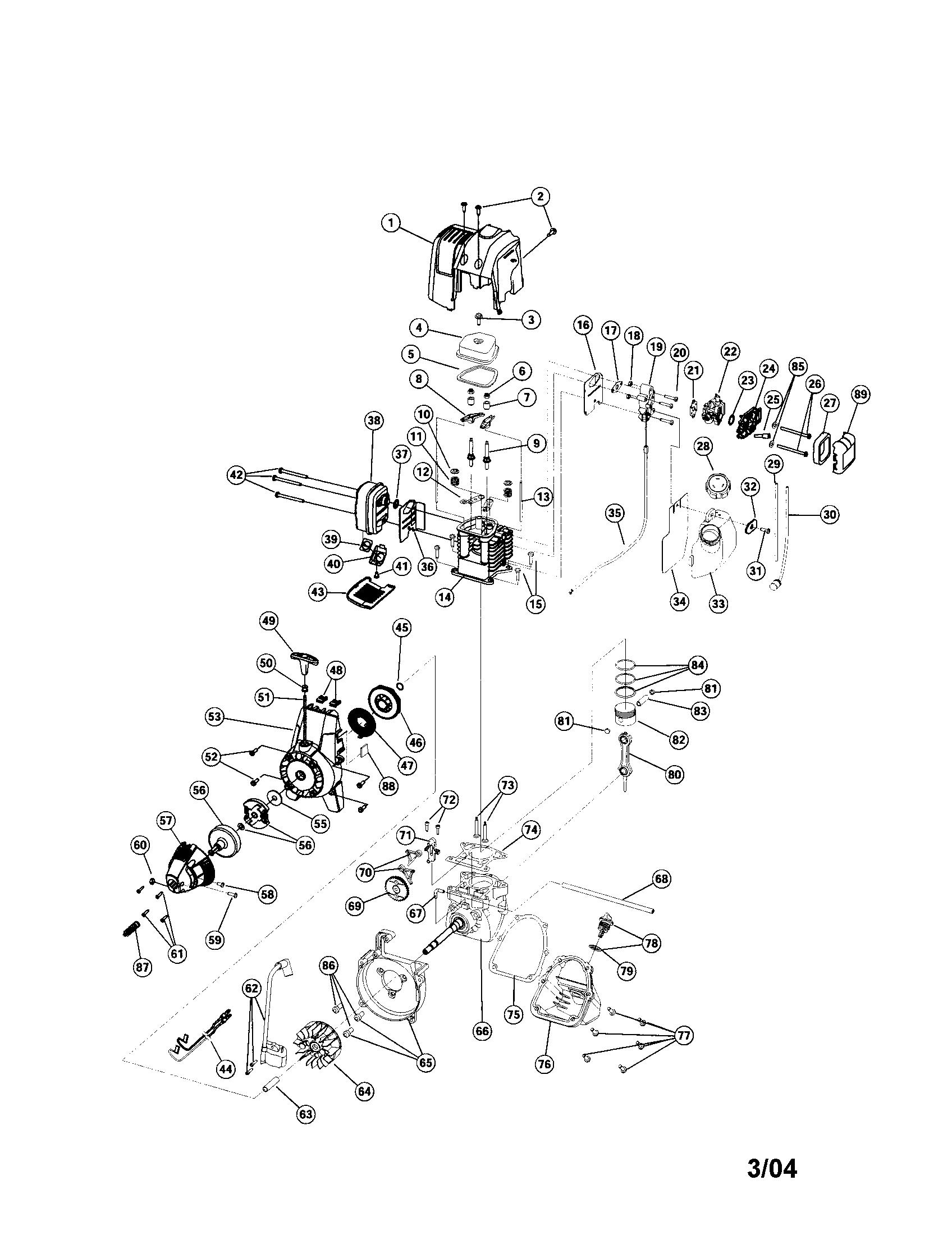 Troybilt model TB425CS line trimmers/weedwackers, gas