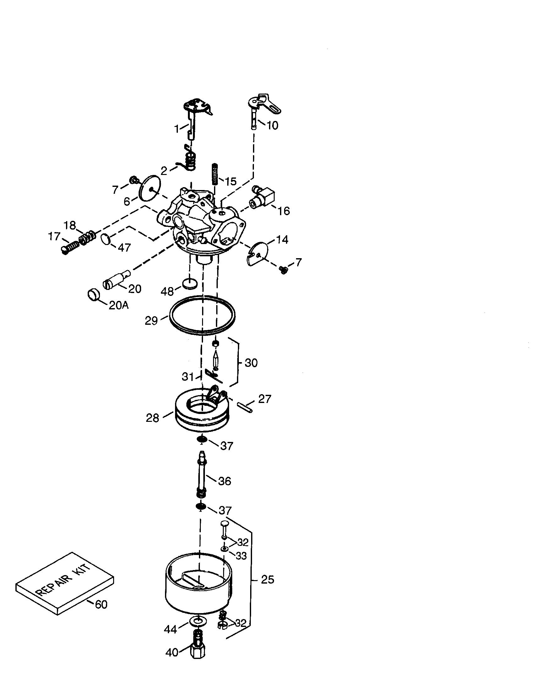Tecumseh model HSSK50-67414U engine genuine parts