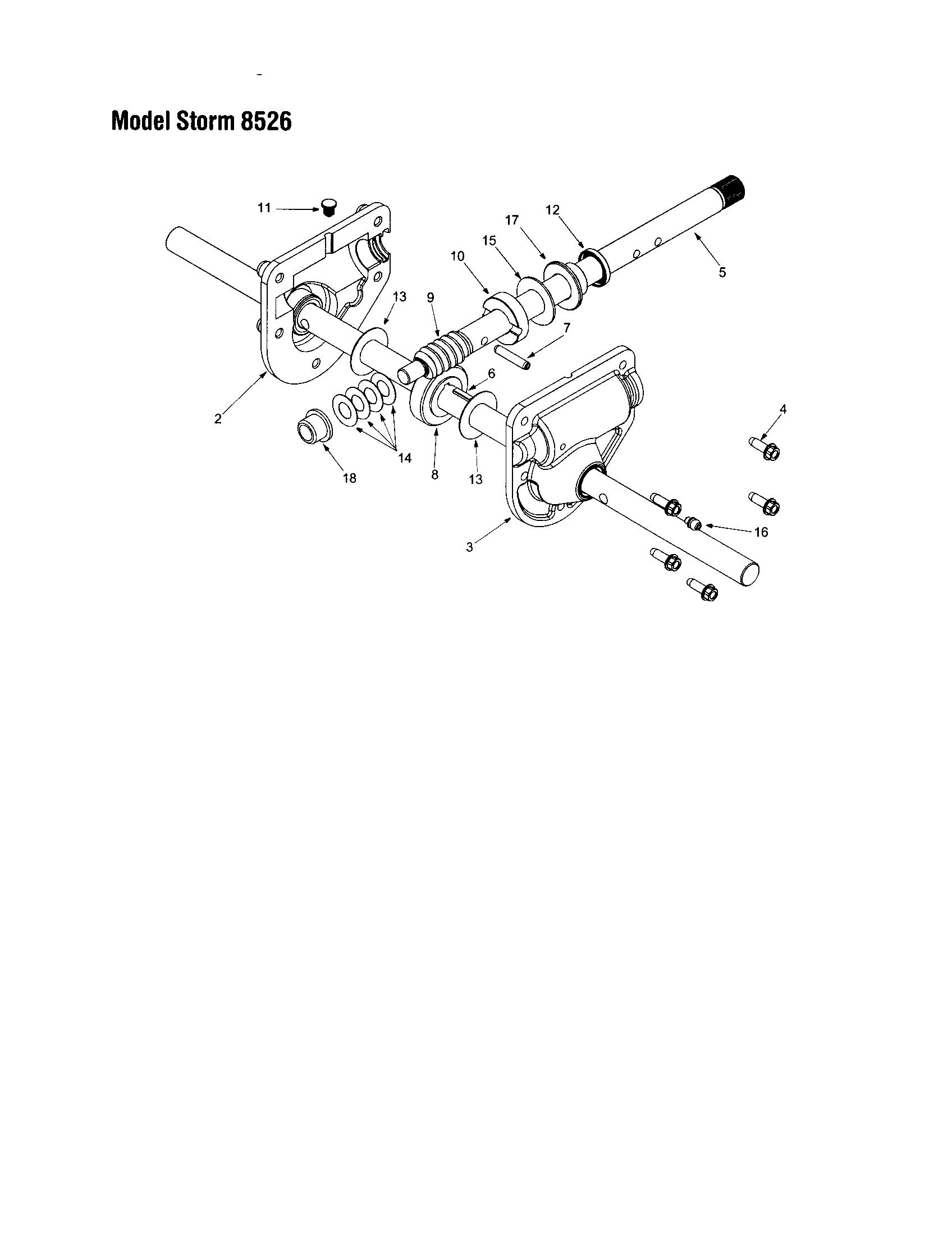 Troybilt model 31AE6S73063 snowthrower, gas genuine parts