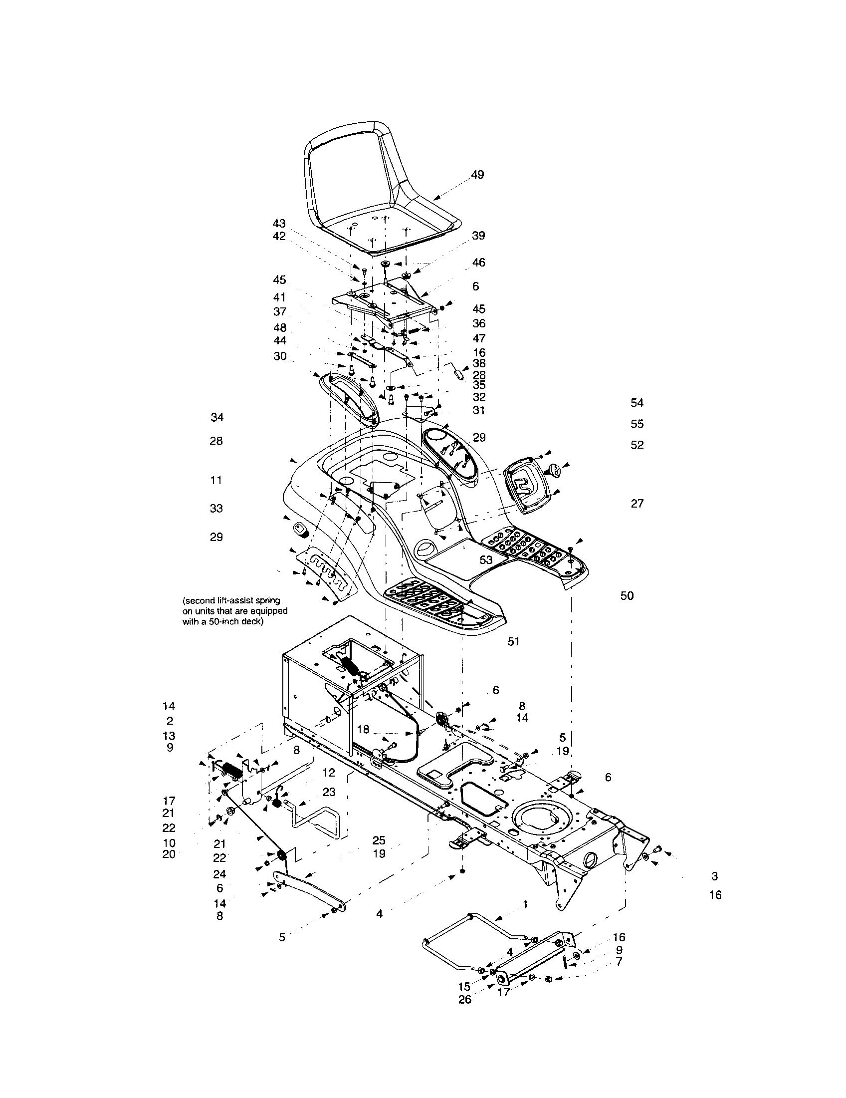 Troybilt model 14BV809H063 lawn, tractor genuine parts