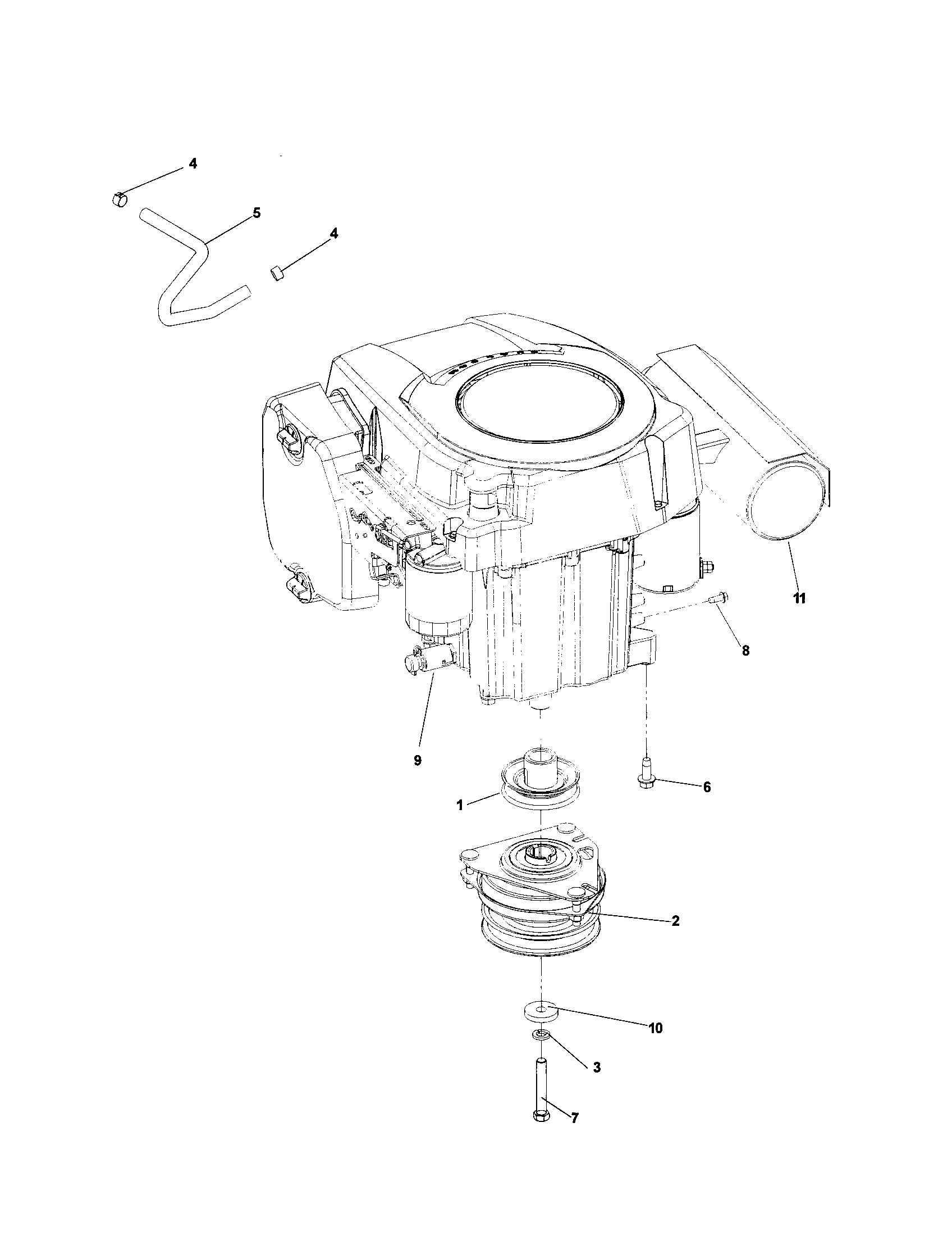 Husqvarna model CZ3815 lawn, riding mower rear engine