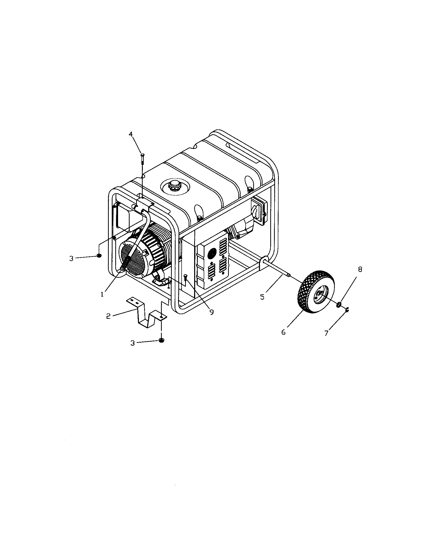 Troybilt model 01919 generator genuine parts