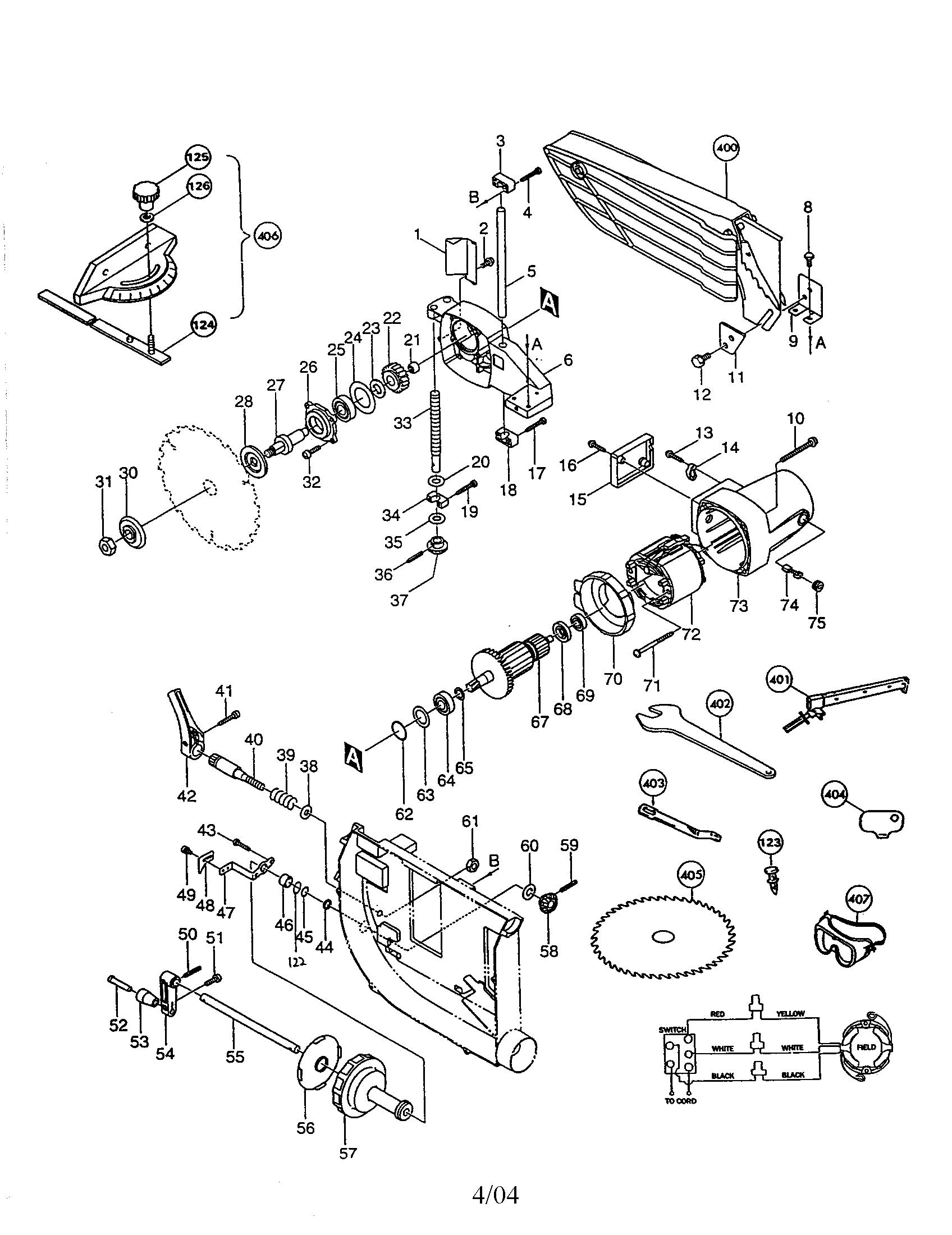 Makita model 2703 table saw genuine parts
