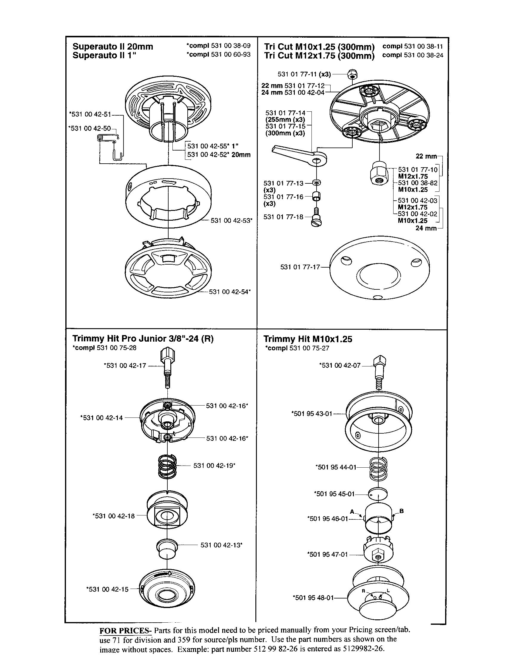 Husqvarna model 323C line trimmers/weedwackers, gas