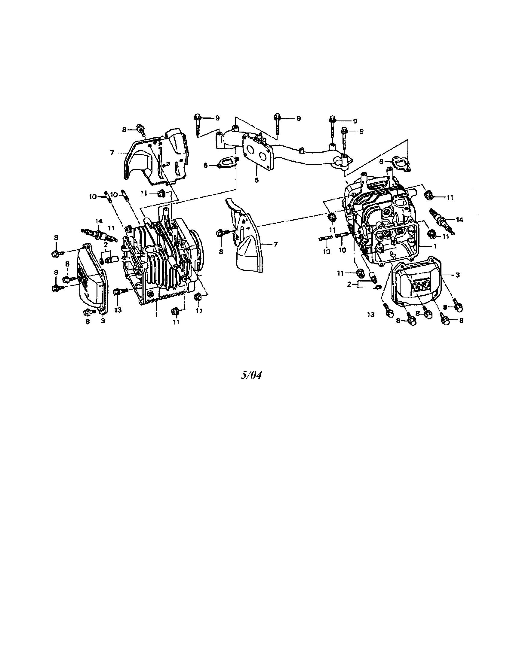 Honda model GCV-530-EXA2 engine genuine parts