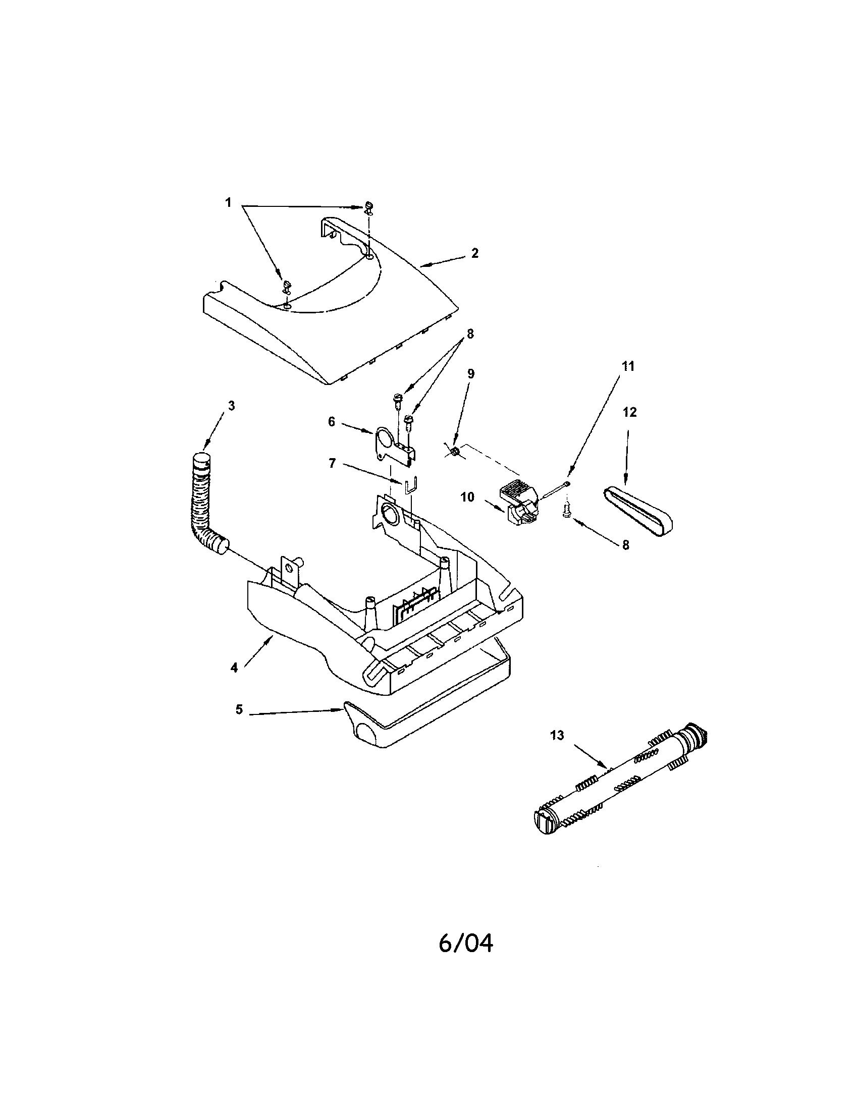 Kenmore model 11634720401 vacuum, upright genuine parts