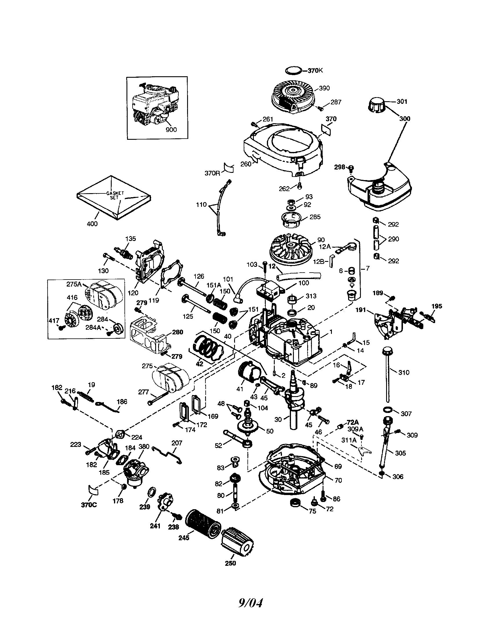 Craftsman model 143044510 engine genuine parts