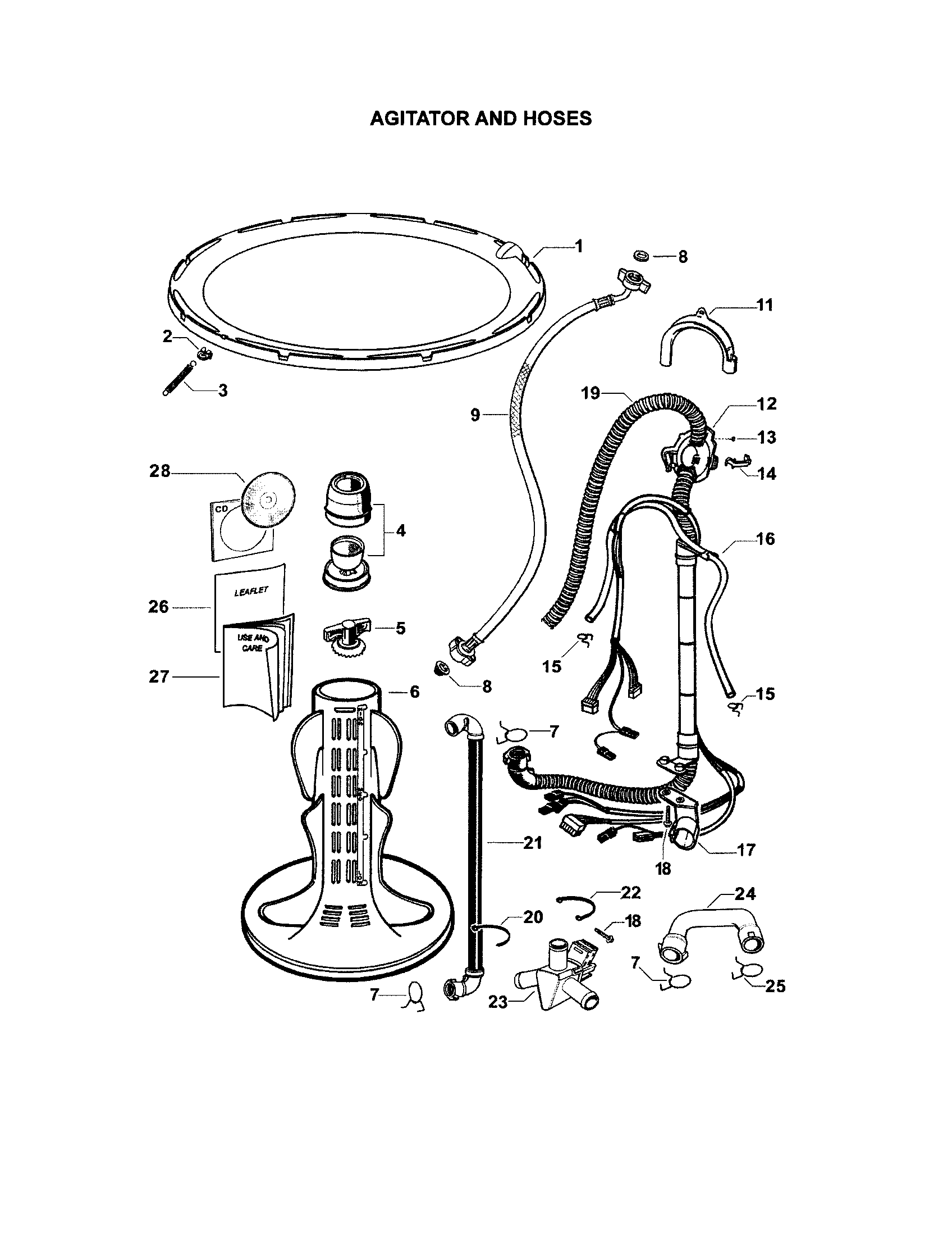 front load washer parts diagram carrier wiring air handler fisher-paykel model gwl11-96151 residential washers genuine