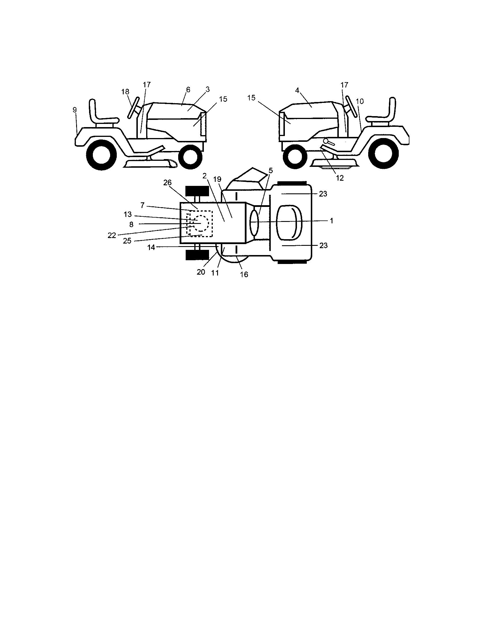 Craftsman model 917276022 lawn, tractor genuine parts