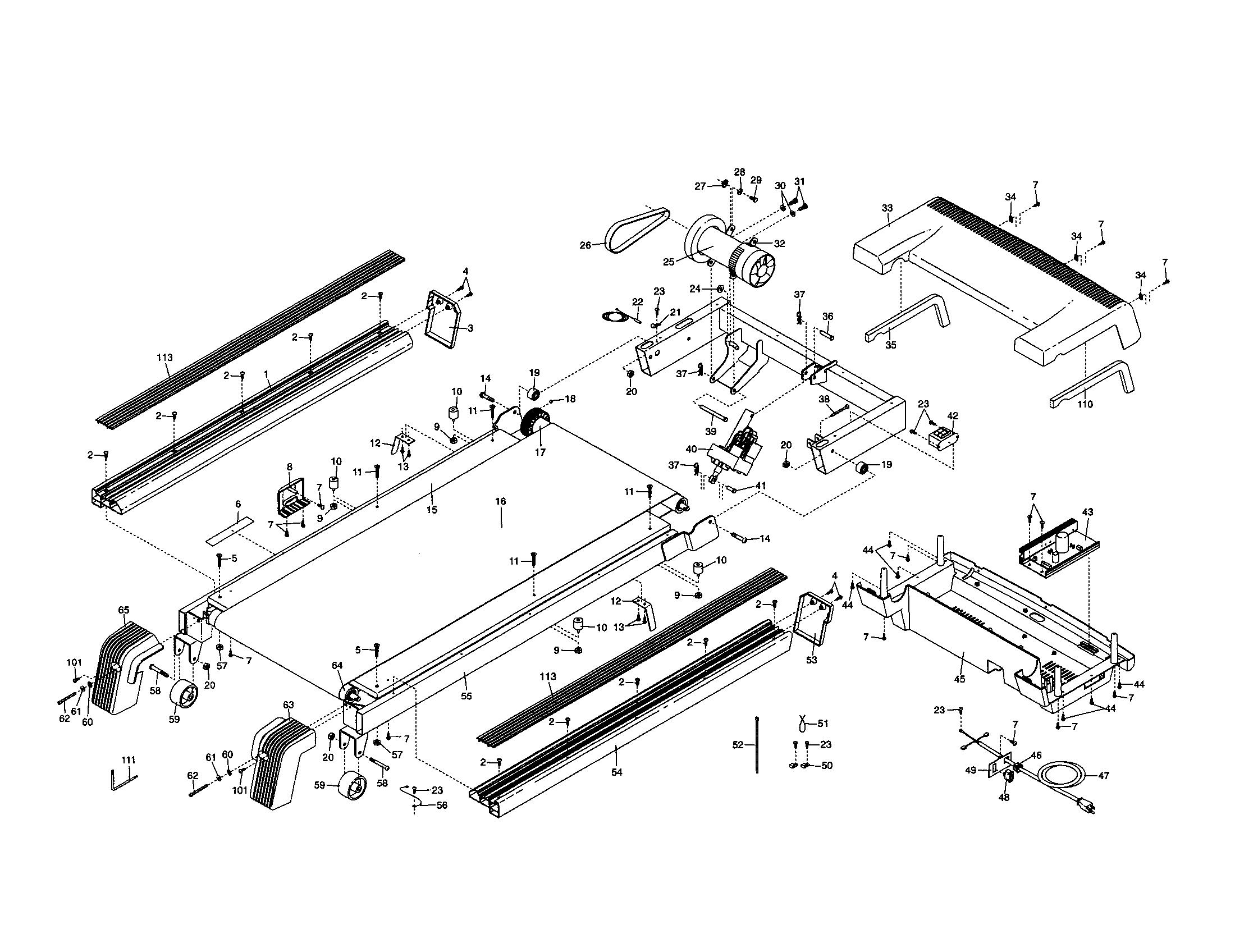 Nordictrack model NTL10850 treadmill genuine parts