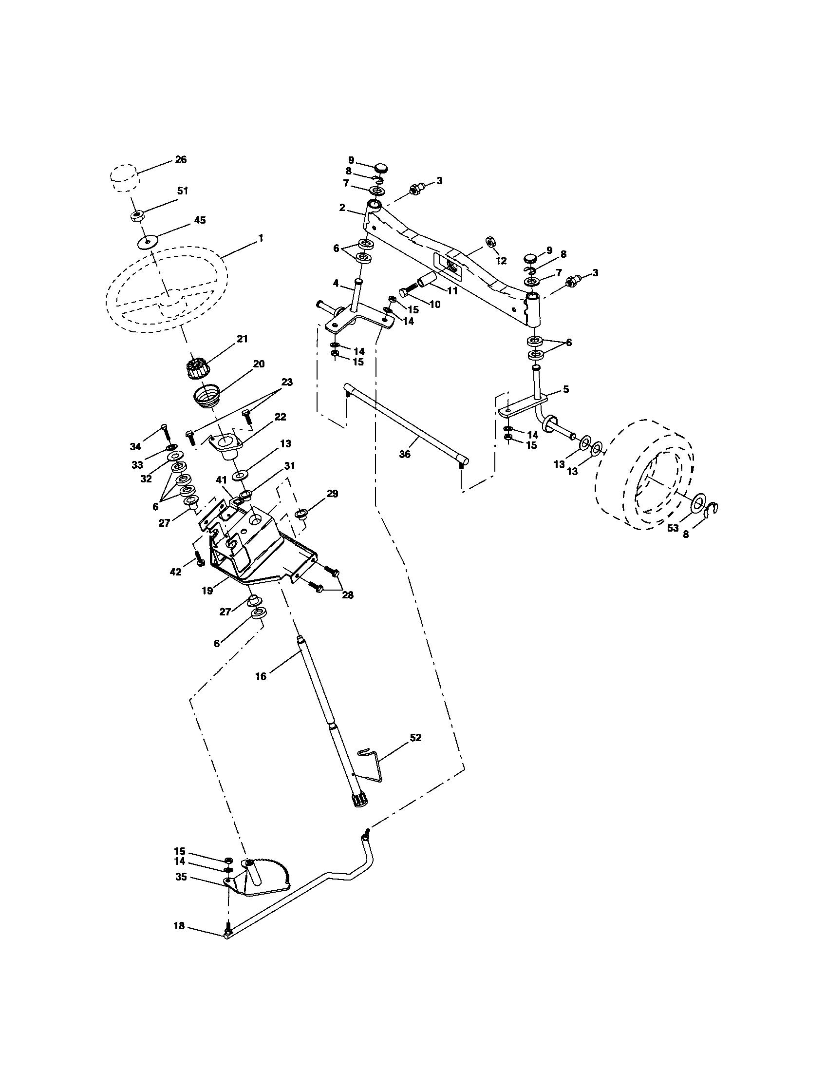 husqvarna lawn mower parts diagram wiring for goodman ac unit model logt2254 tractor genuine steering asse