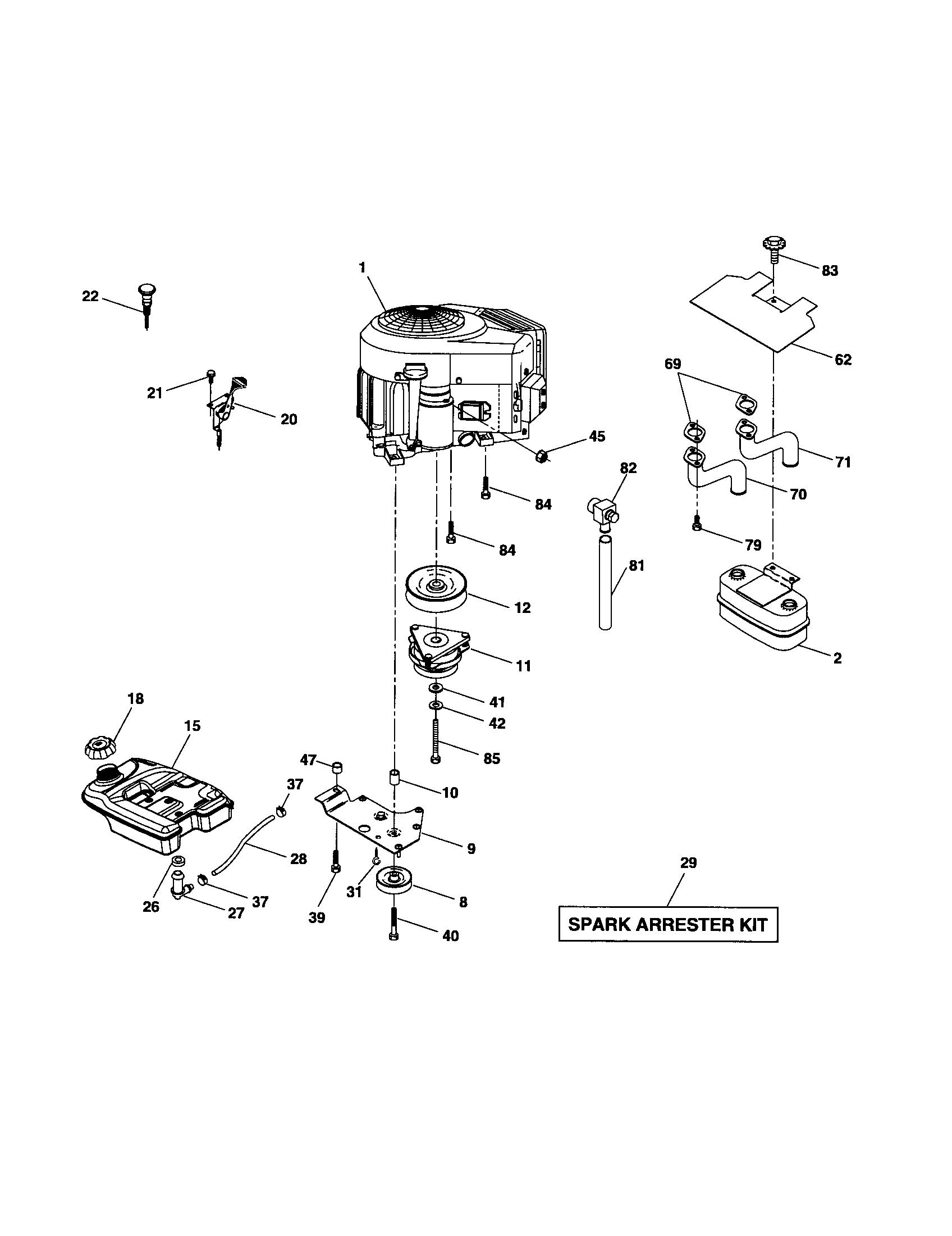 Husqvarna model LOGT2254 lawn, tractor genuine parts