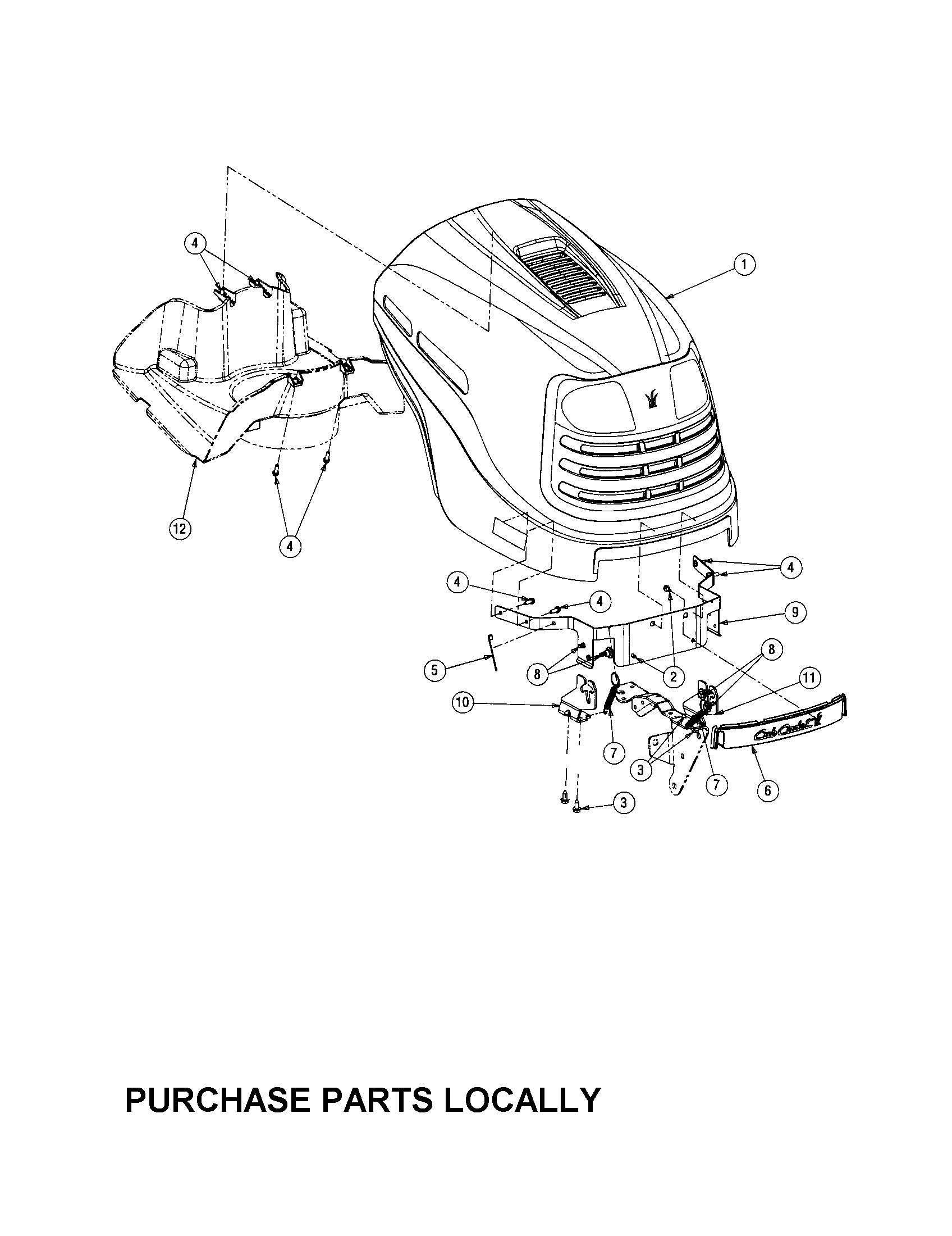 Cub-Cadet model LT1045 lawn, tractor genuine parts